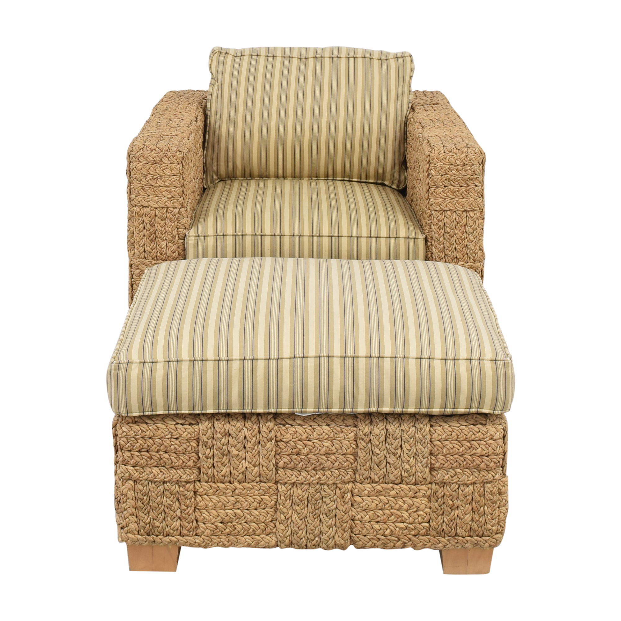 shop Ralph Lauren Home Accent Chair with Ottoman Ralph Lauren Home Chairs