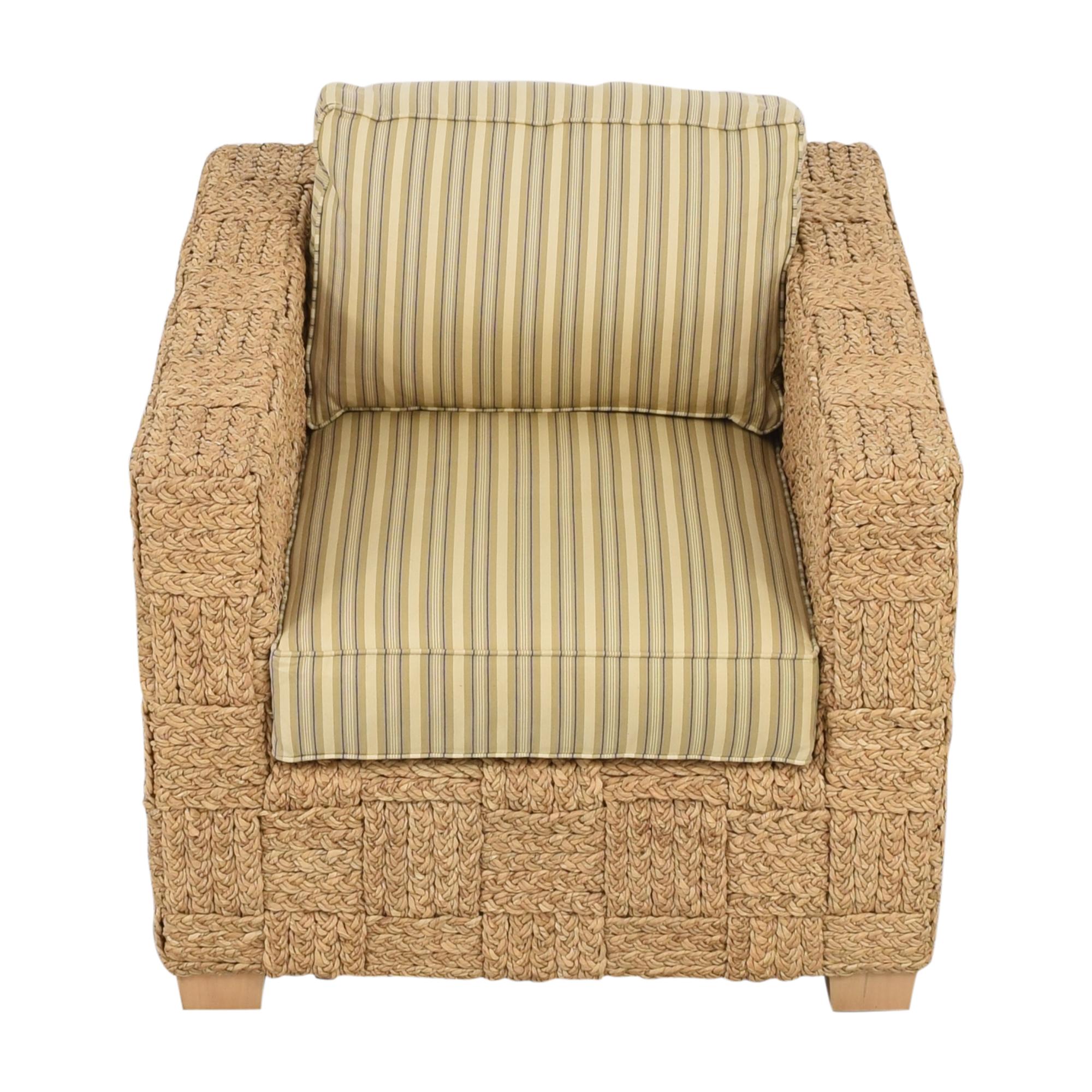 Ralph Lauren Home Ralph Lauren Home Accent Chair with Ottoman Chairs