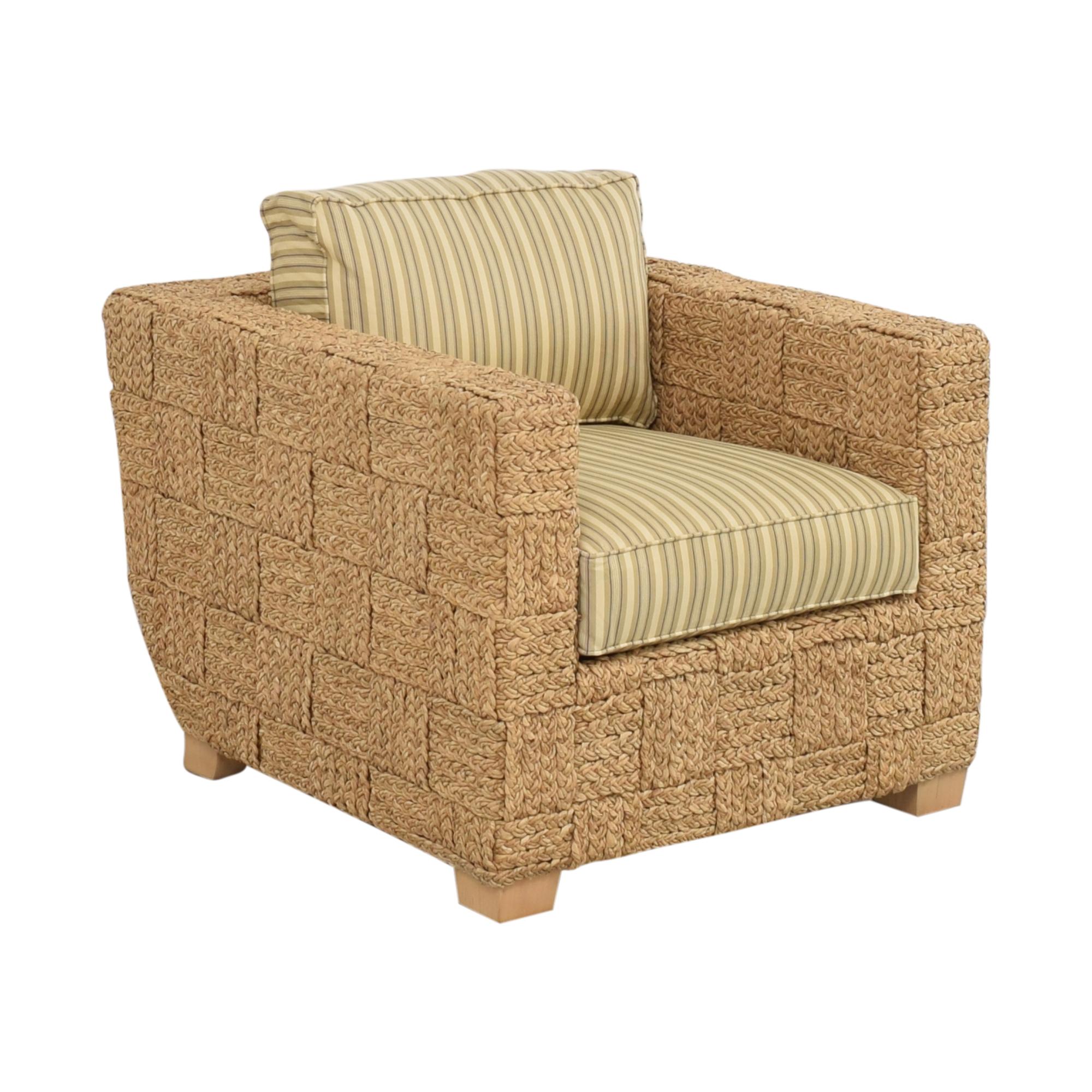 Ralph Lauren Home Ralph Lauren Home Accent Chair with Ottoman second hand