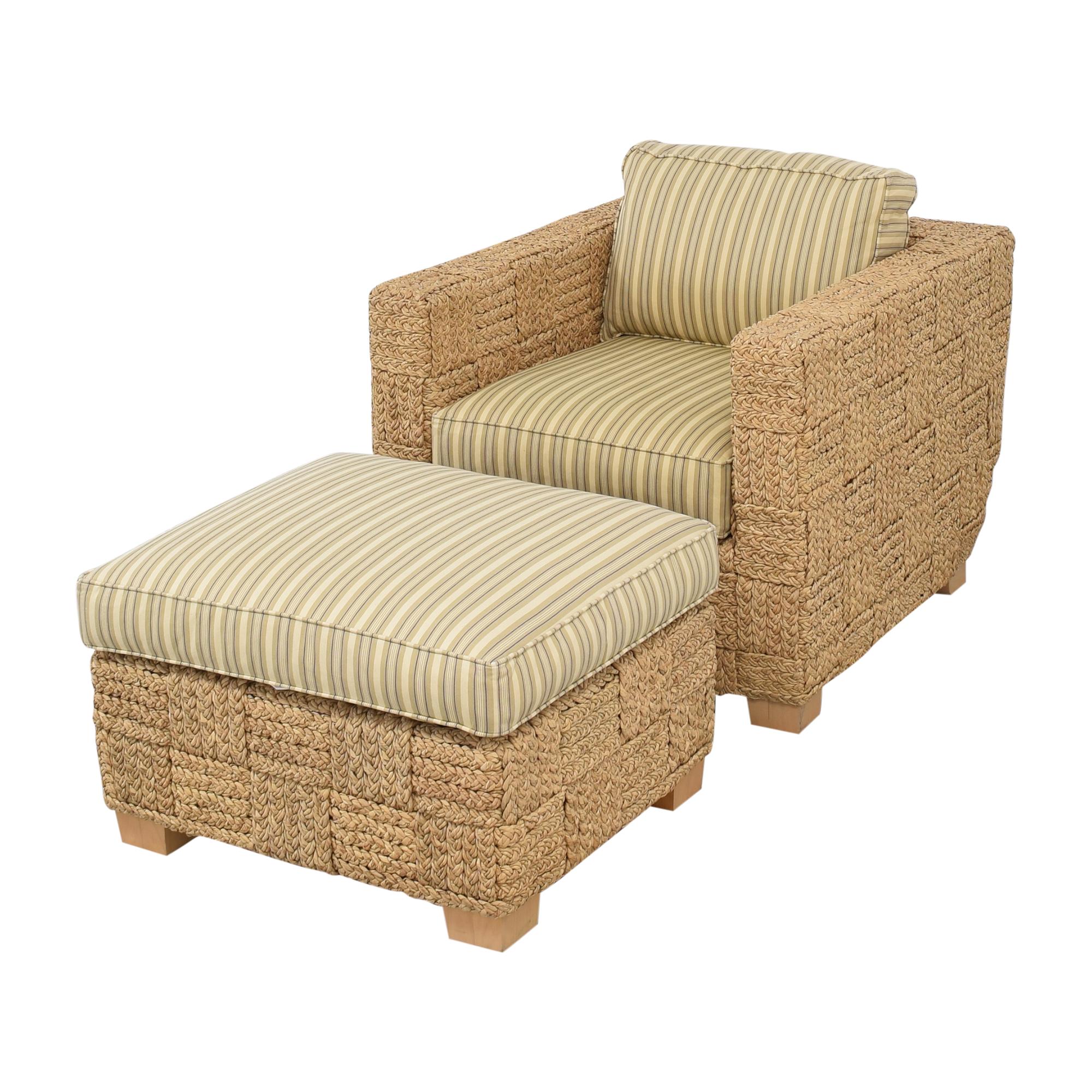 Ralph Lauren Home Ralph Lauren Home Accent Chair with Ottoman ct