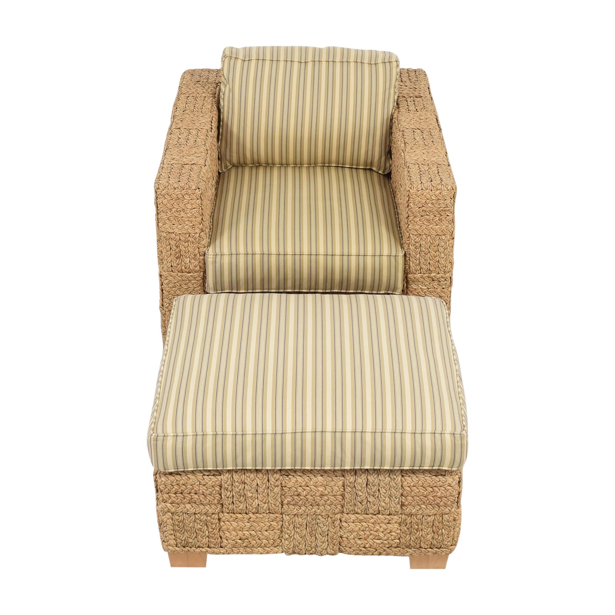Ralph Lauren Home Ralph Lauren Home Accent Chair with Ottoman discount