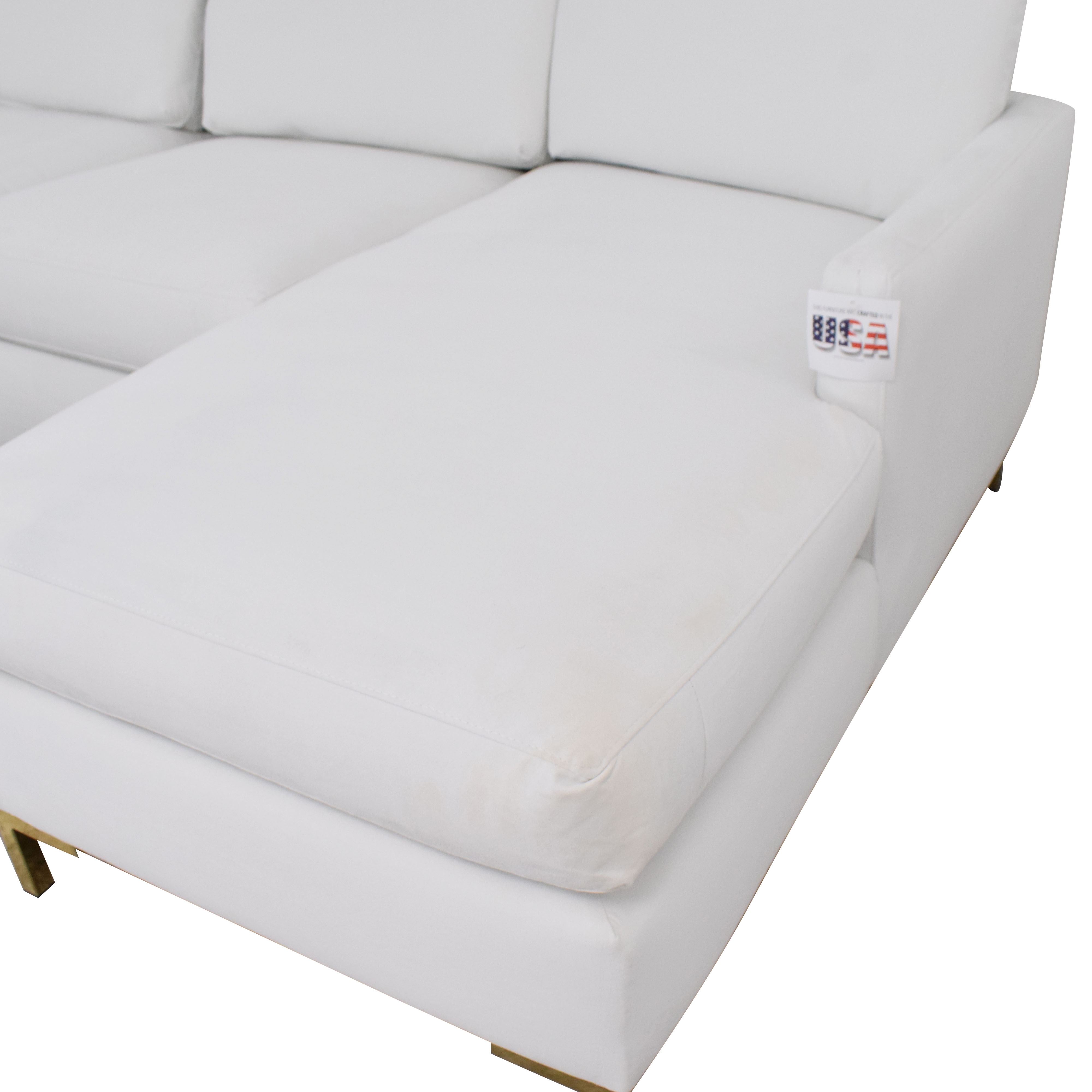 shop The Inside Modern Sectional-Right Facing Sofa The Inside Sofas