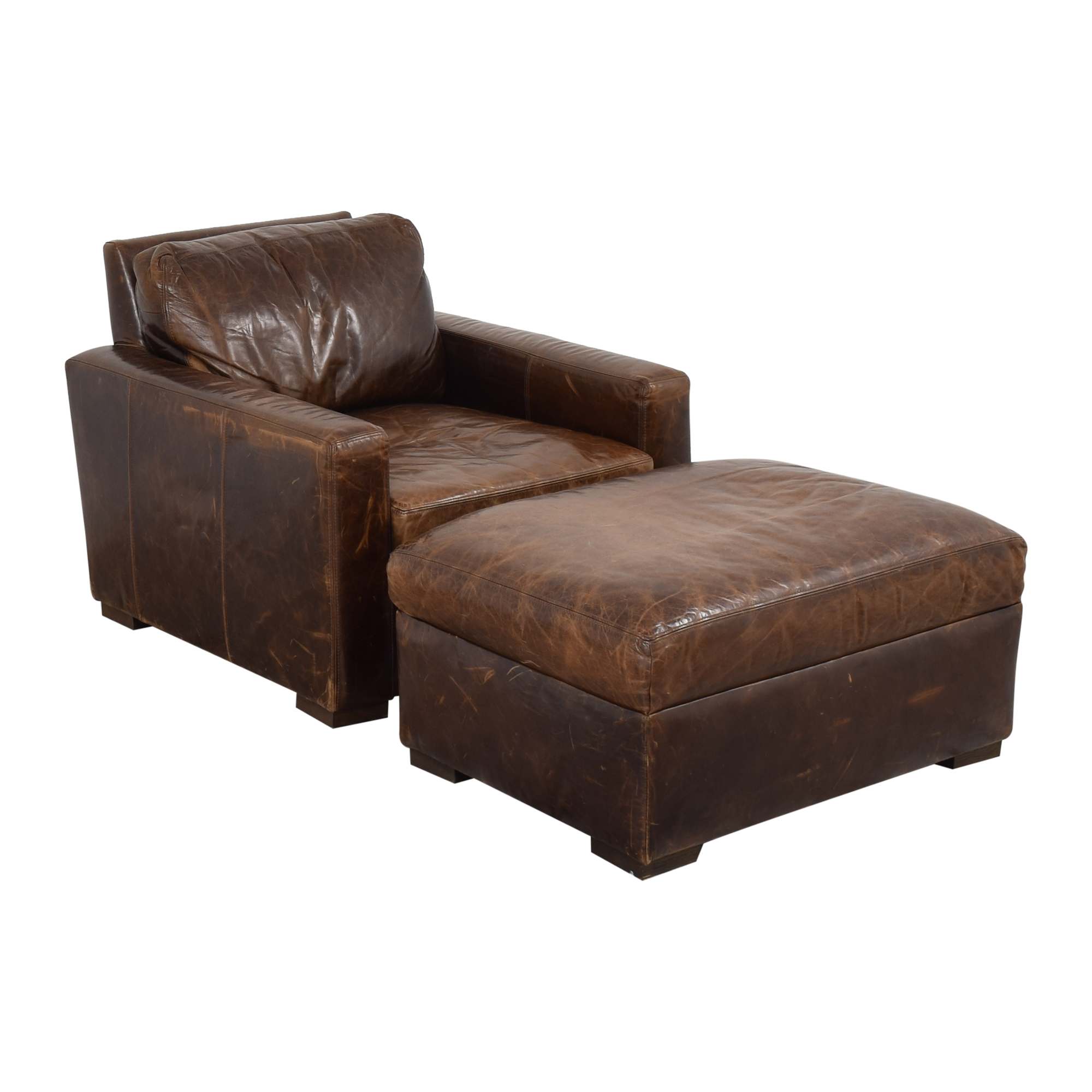 Restoration Hardware Restoration Hardware Petite Maxwell Chair and Ottoman price