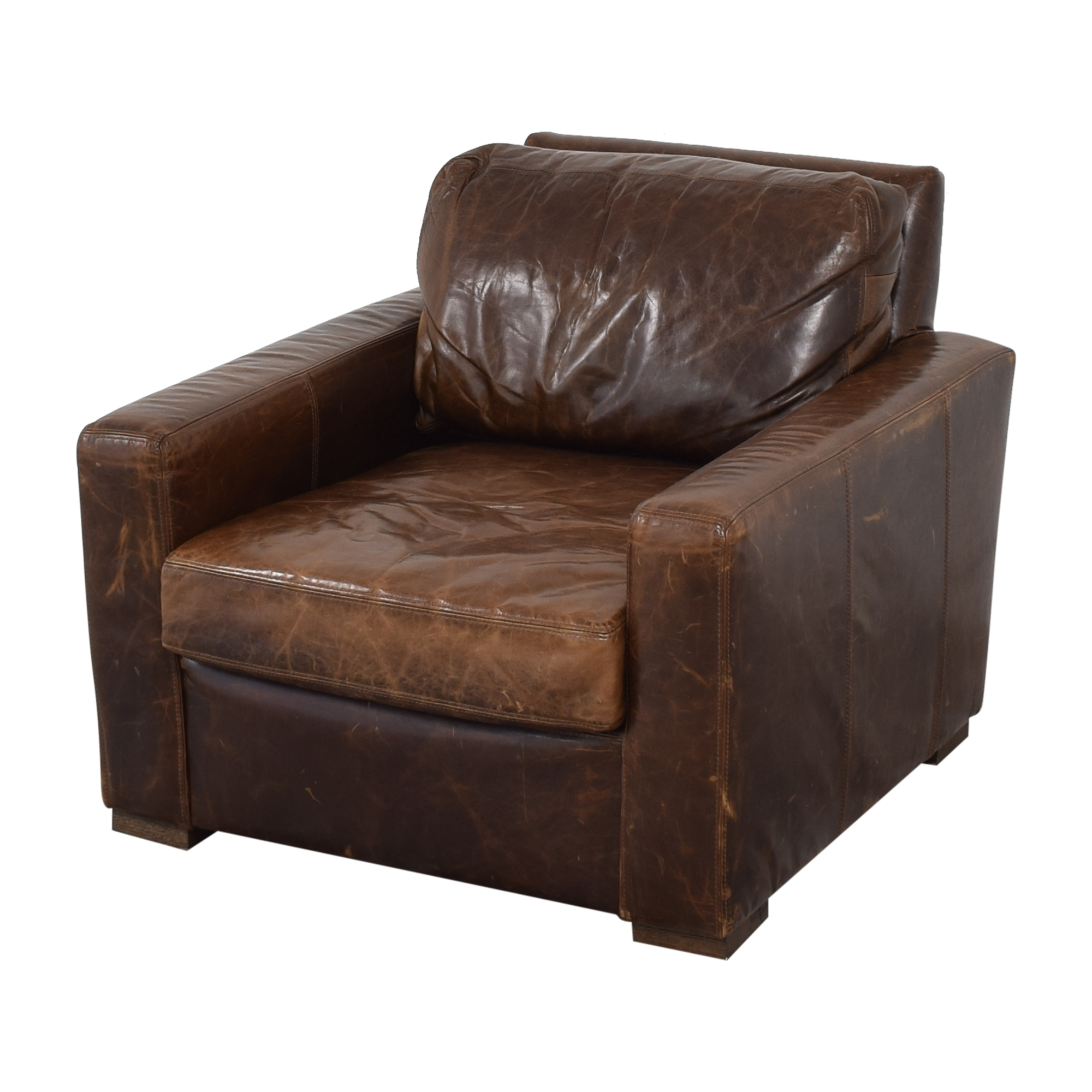 buy Restoration Hardware Restoration Hardware Petite Maxwell Chair and Ottoman online