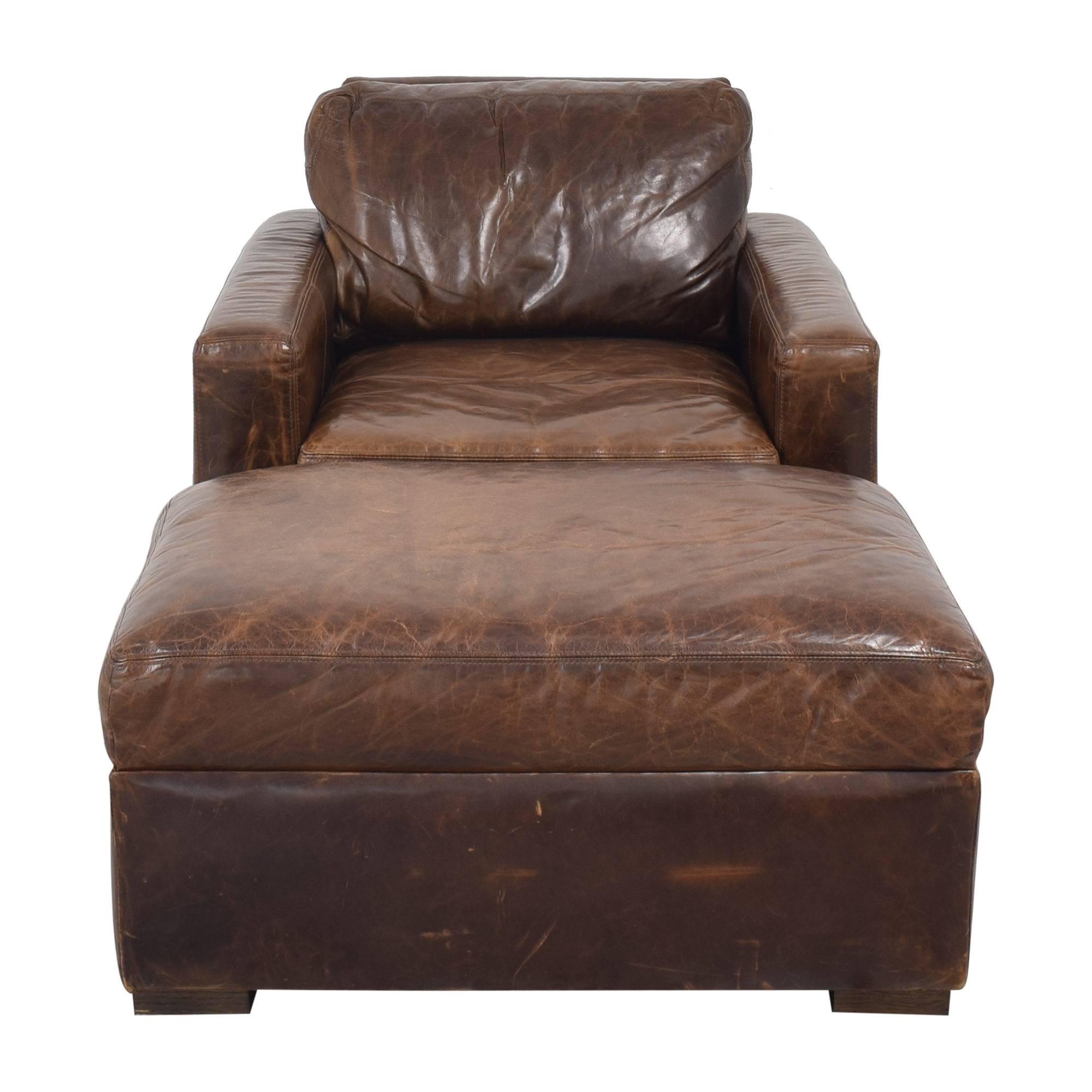 Restoration Hardware Restoration Hardware Petite Maxwell Chair and Ottoman nyc