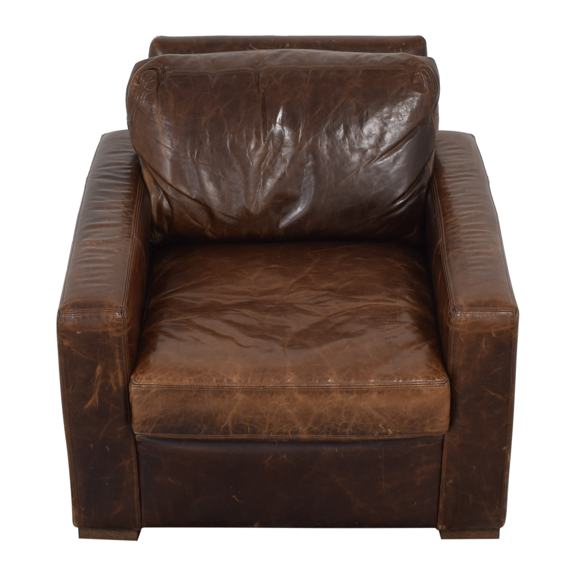 Restoration Hardware Restoration Hardware Petite Maxwell Chair and Ottoman second hand