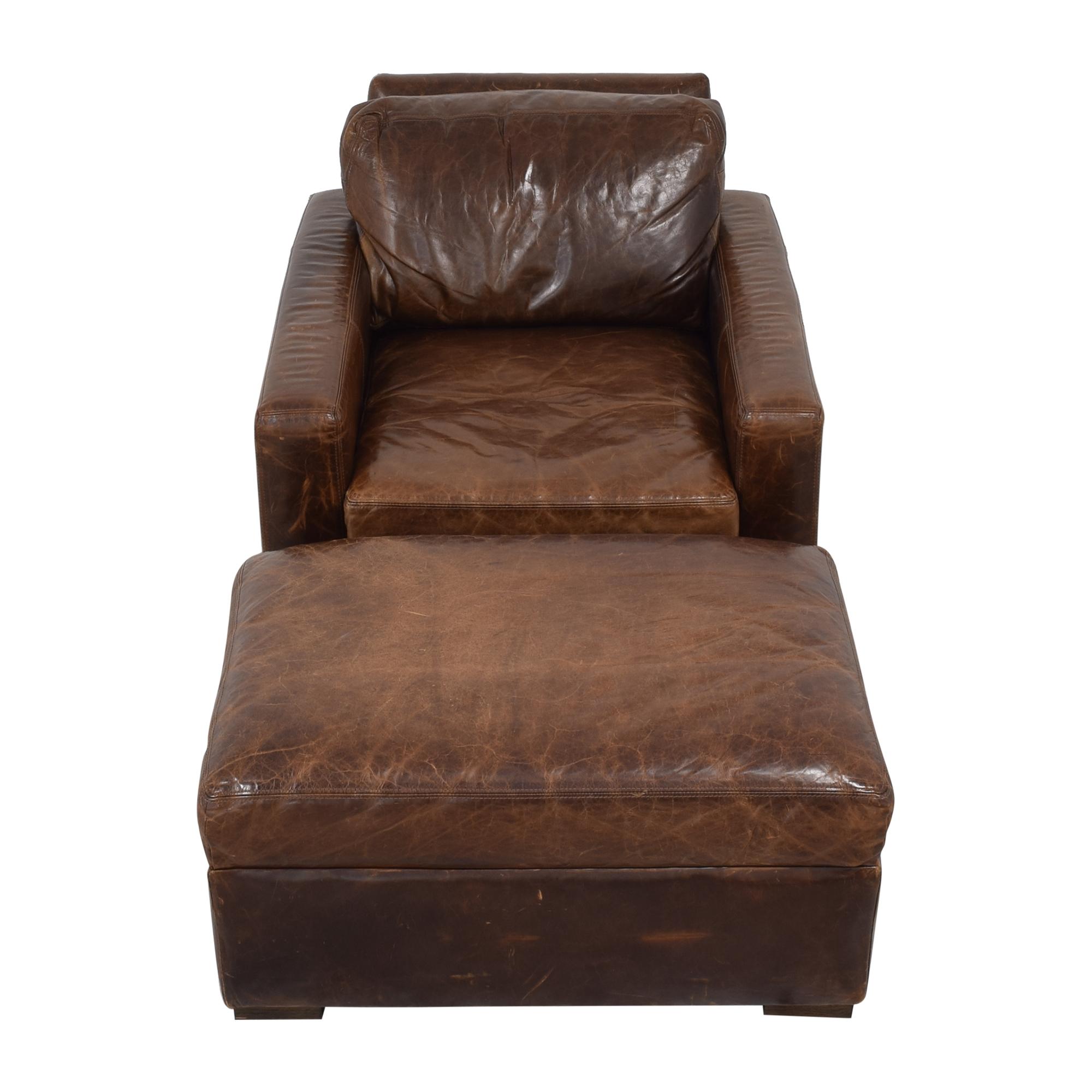 shop Restoration Hardware Petite Maxwell Chair and Ottoman Restoration Hardware Accent Chairs