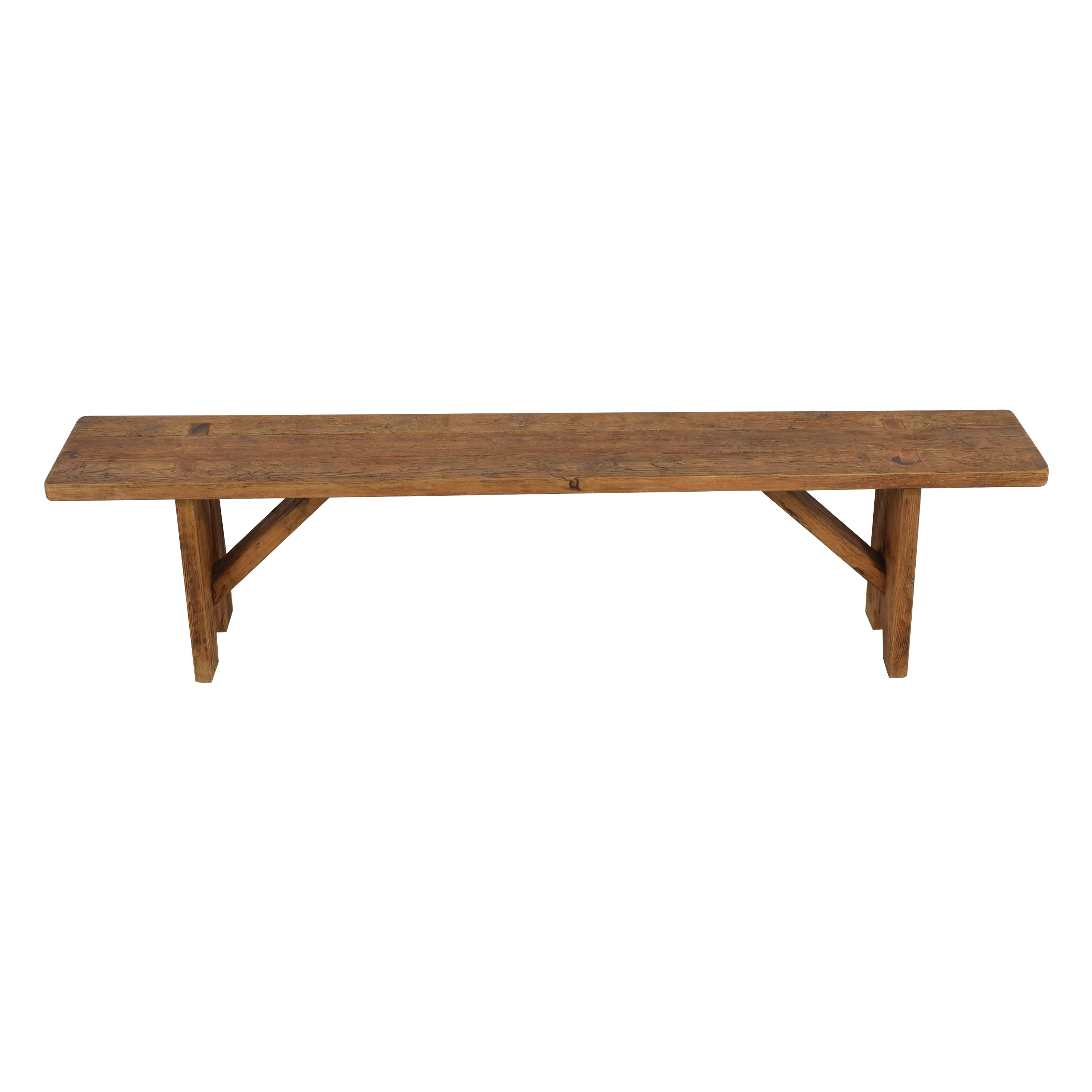 Restoration Hardware Restoration Hardware Barnwood Bench used