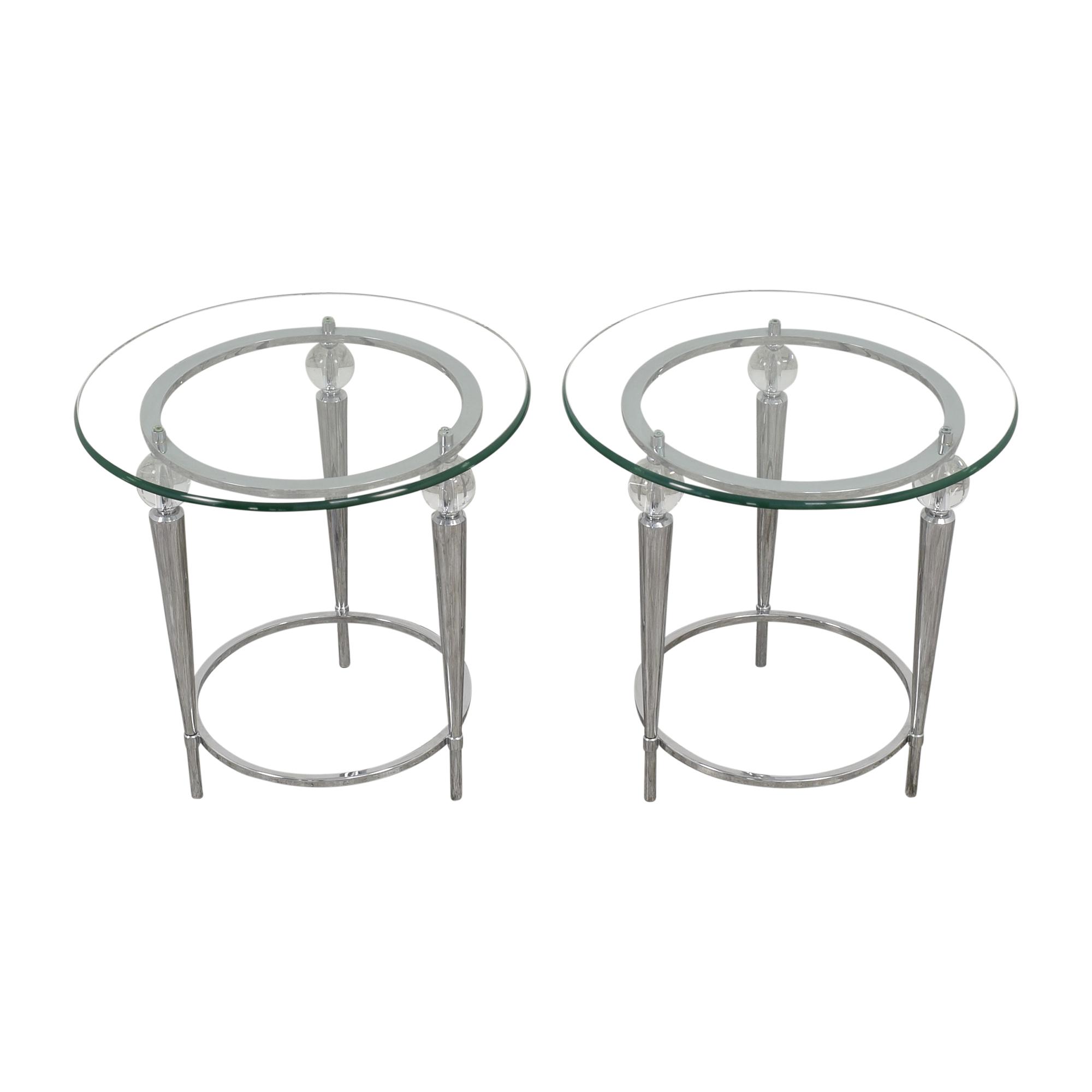 AllModern AllModern Round Glass Top Side Tables nj