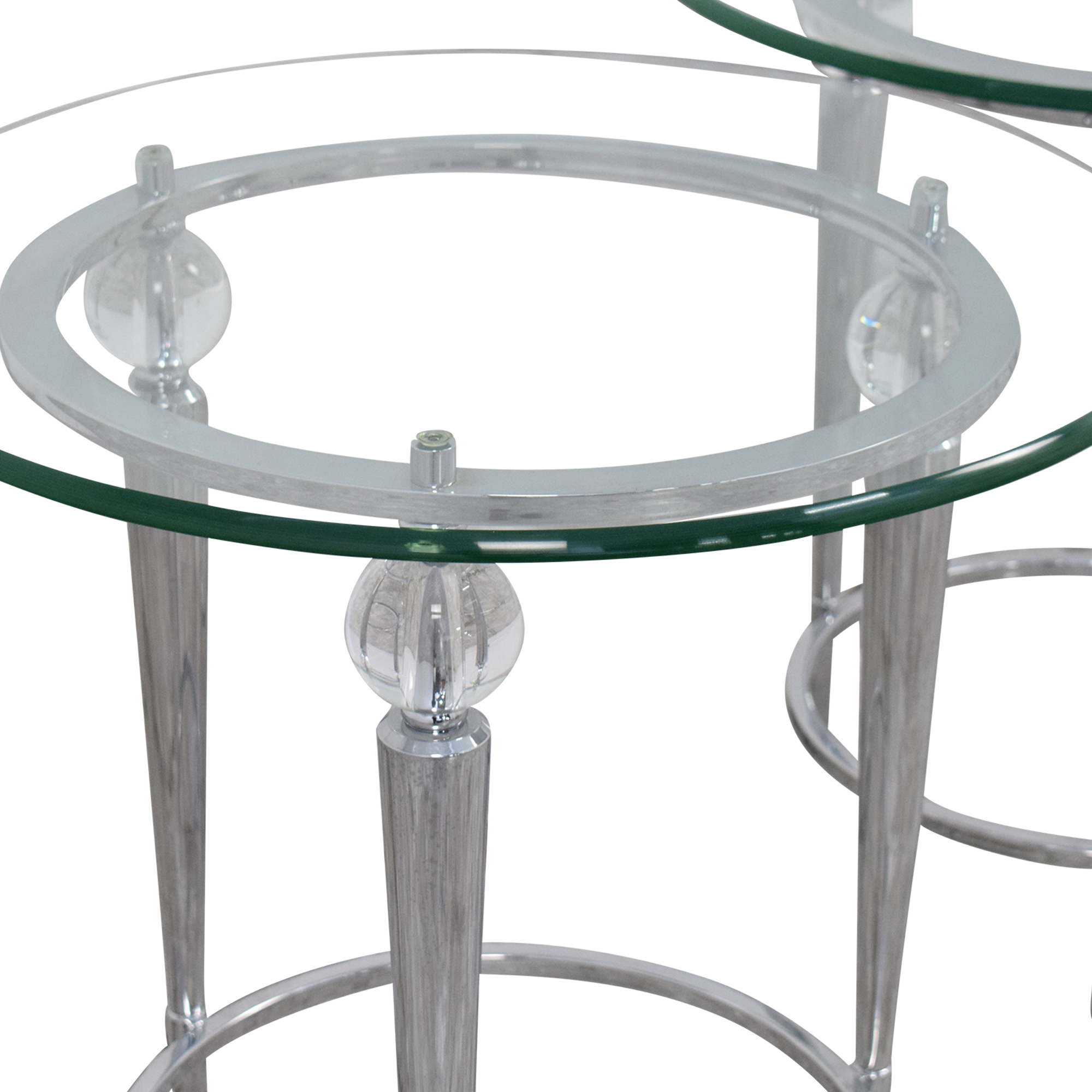 AllModern AllModern Round Glass Top Side Tables pa