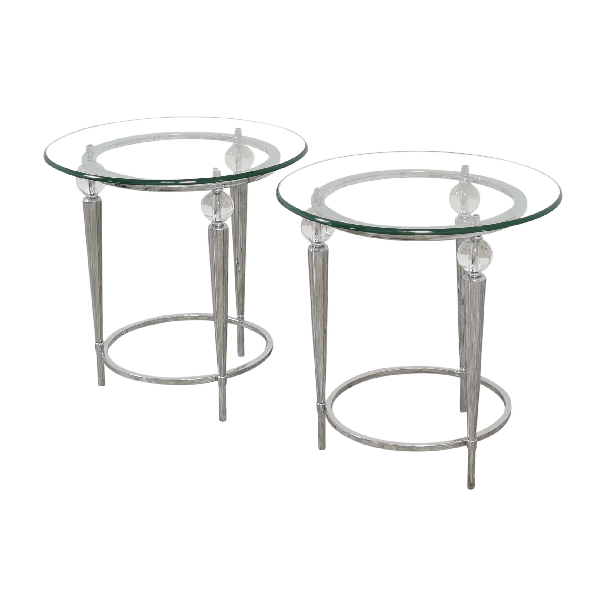 AllModern AllModern Round Glass Top Side Tables on sale