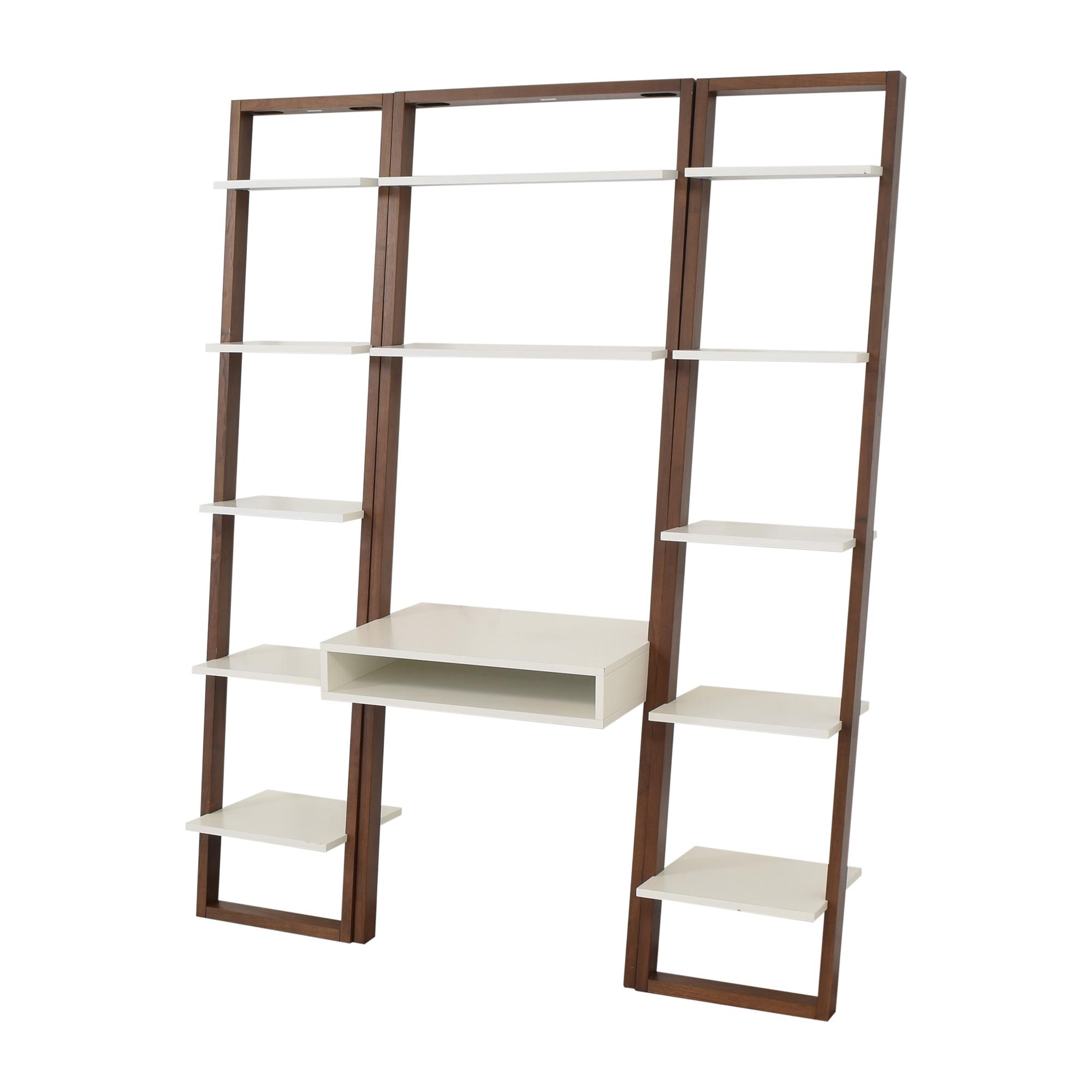 32 Off West Elm West Elm Ladder Shelf Storage Leaning Wall Desk With Two Narrow Shelves Storage