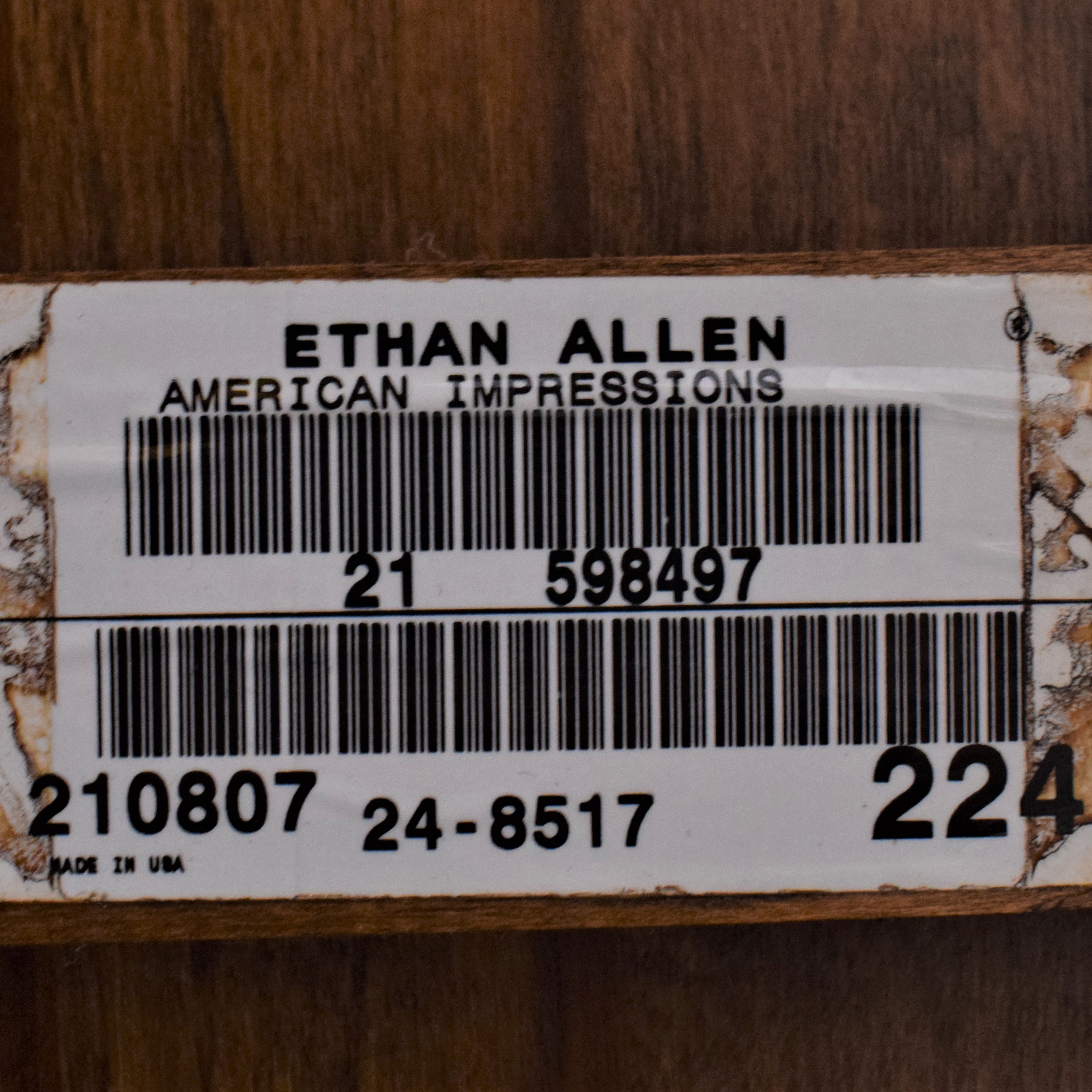 Ethan Allen American Impressions Demilune Sofa Table / Tables