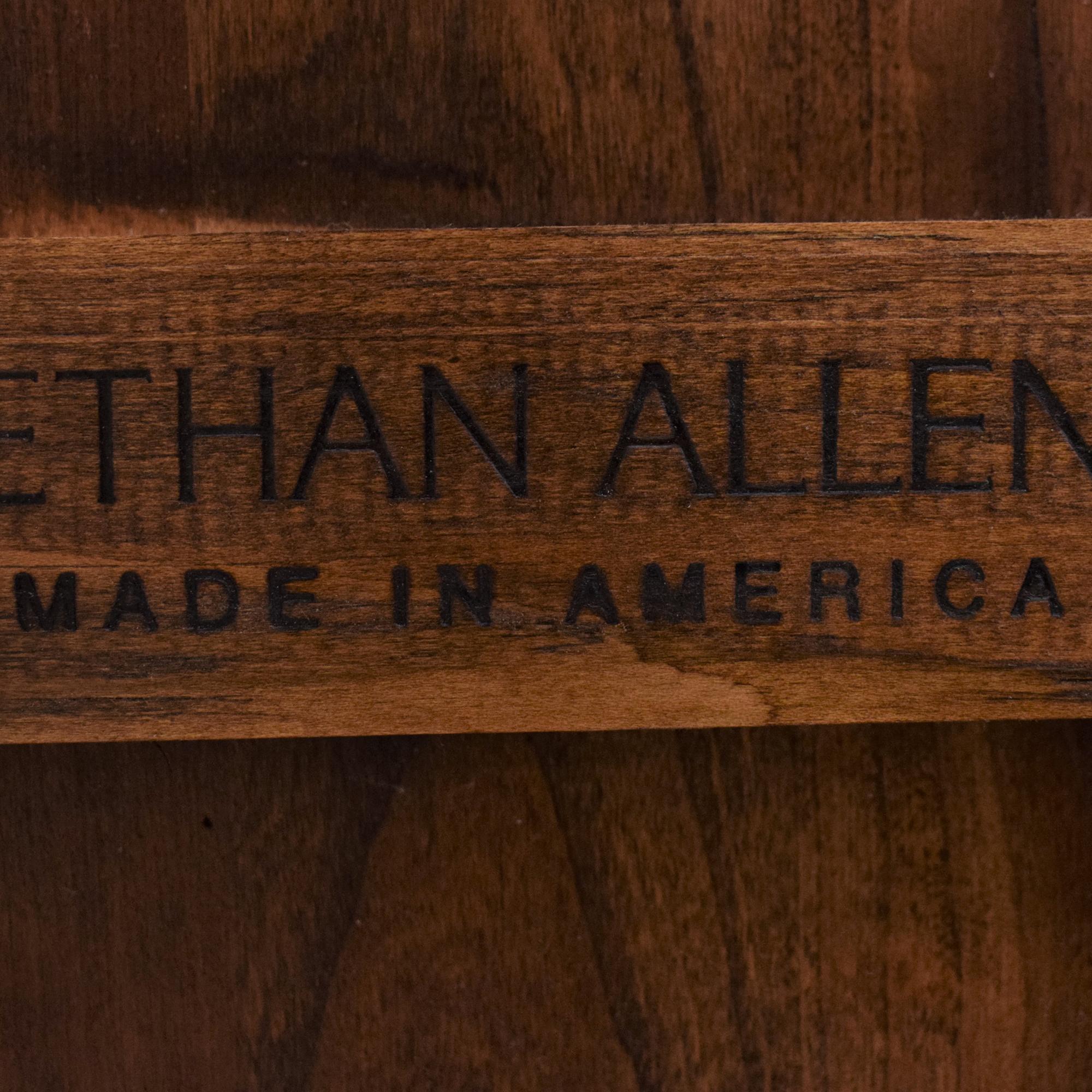 shop Ethan Allen American Impressions Demilune Sofa Table Ethan Allen Accent Tables