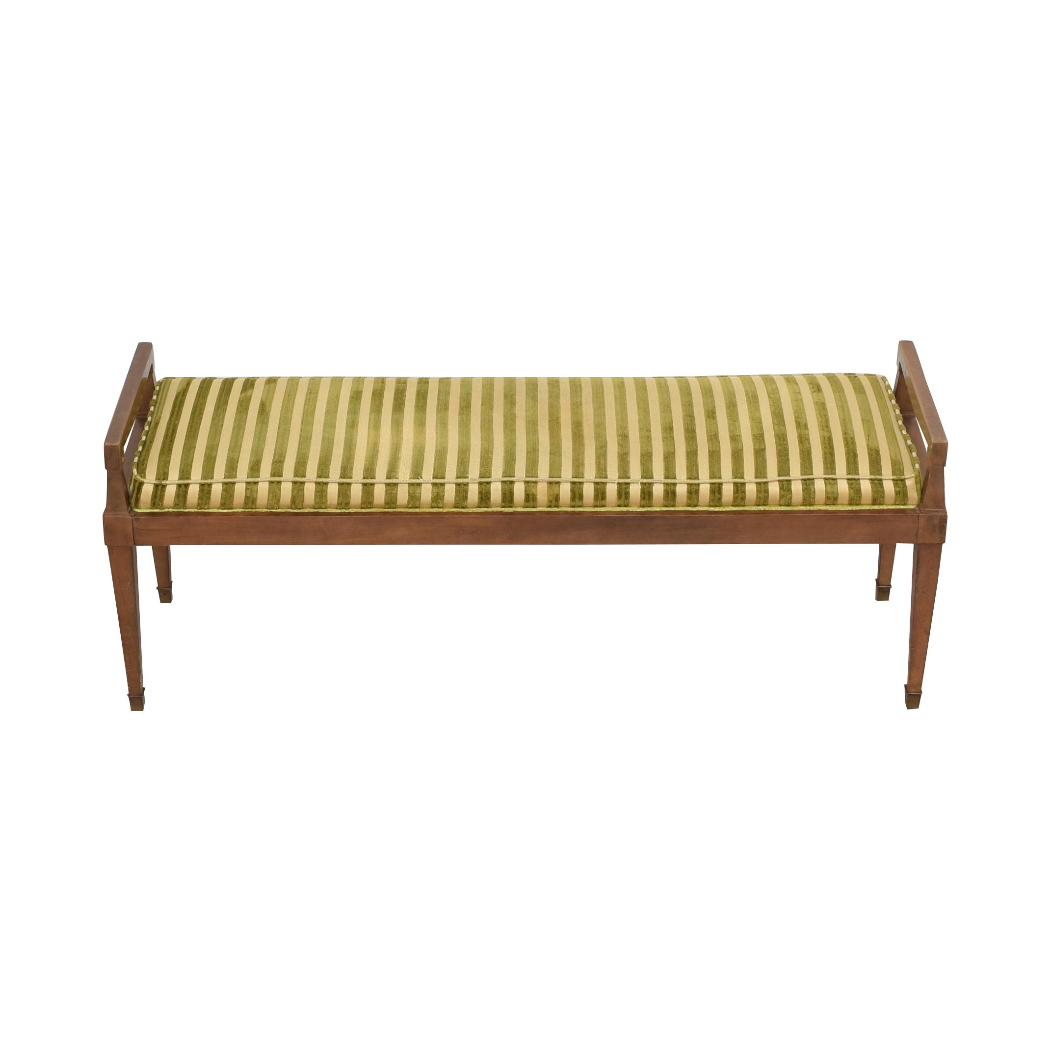 Drexel Vintage Drexel Cushioned Bench ct