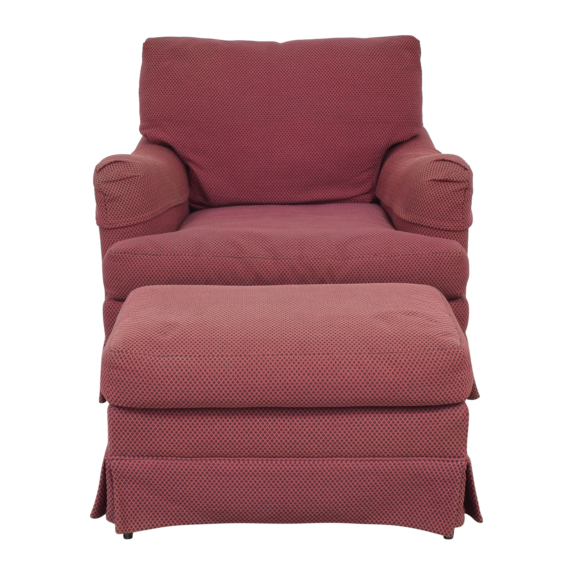buy Sherrill Reading Chair with Ottoman Sherrill Furniture Chairs