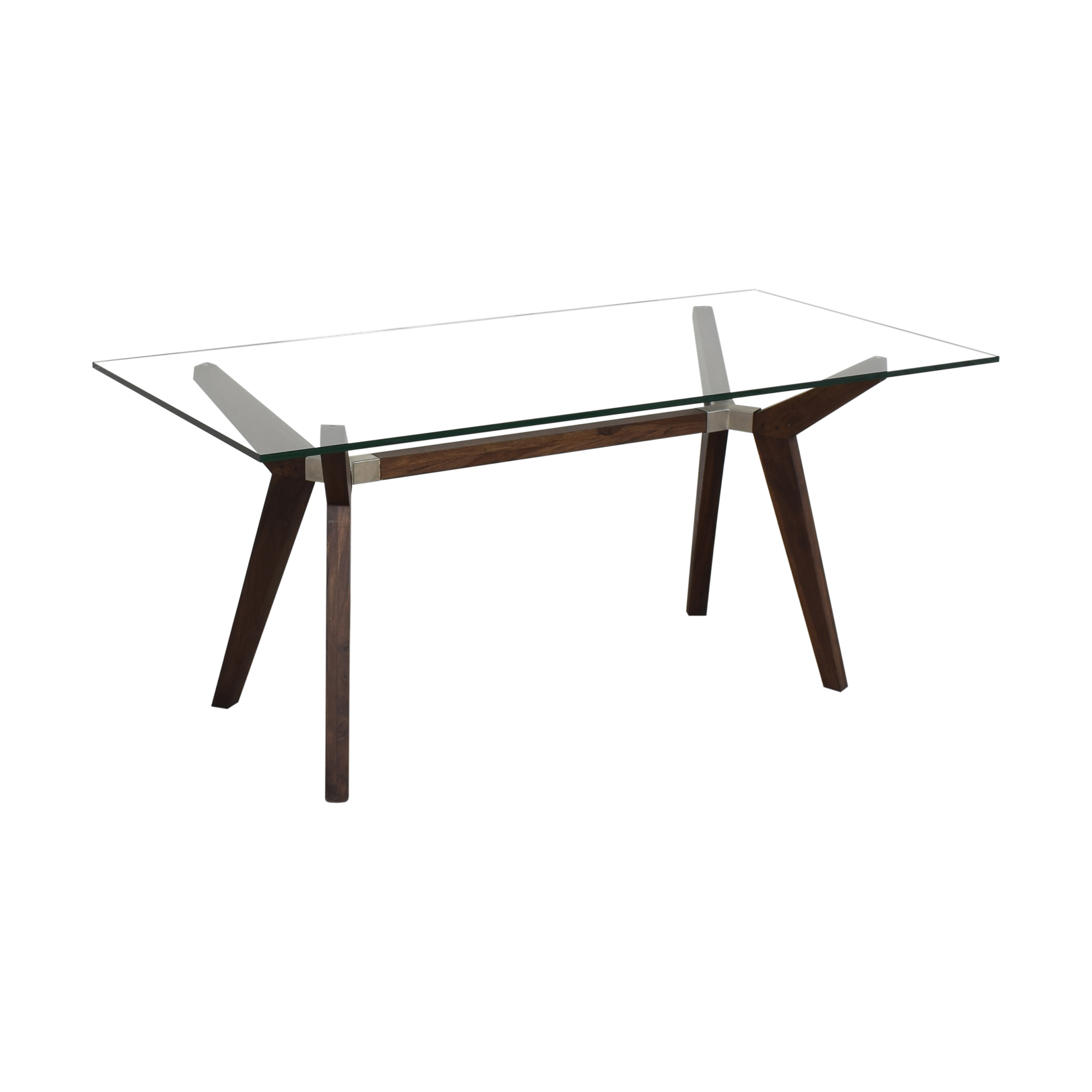 buy Crate & Barrel Strut Bourbon Glass Top Table Crate & Barrel Tables