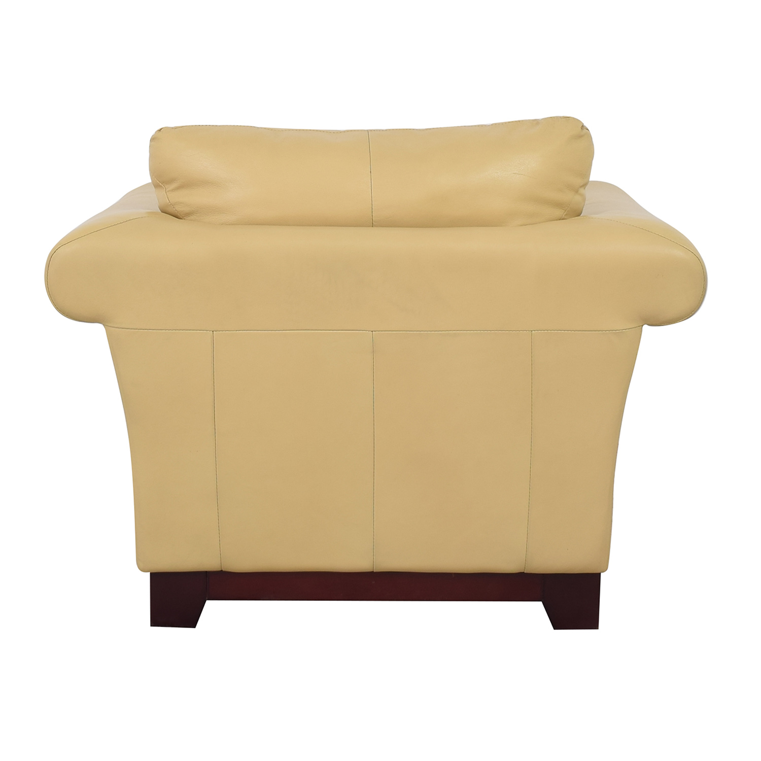 shop Castro Convertibles Castro Convertibles Yellow Leather Armchair online