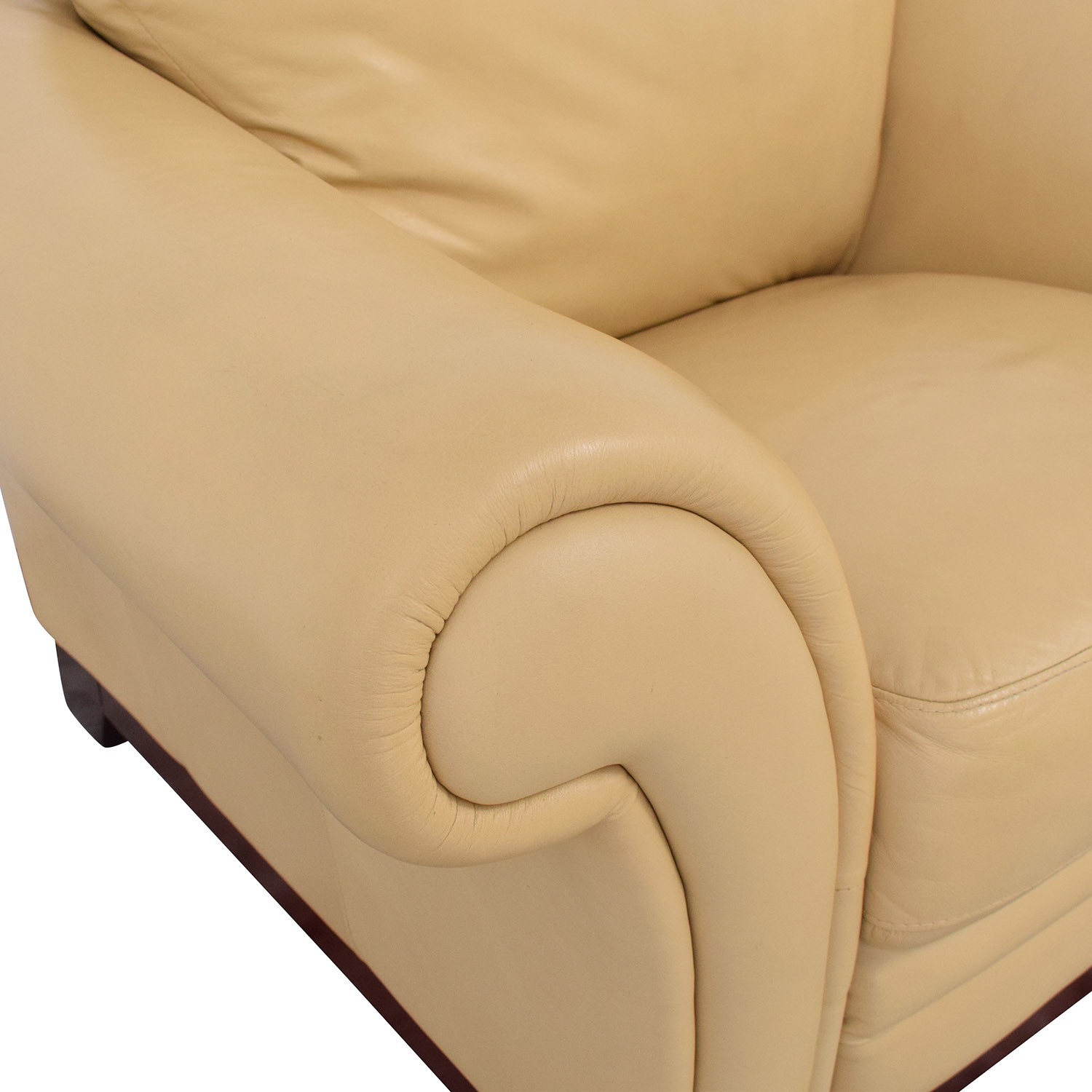 buy Castro Convertibles Yellow Leather Armchair Castro Convertibles