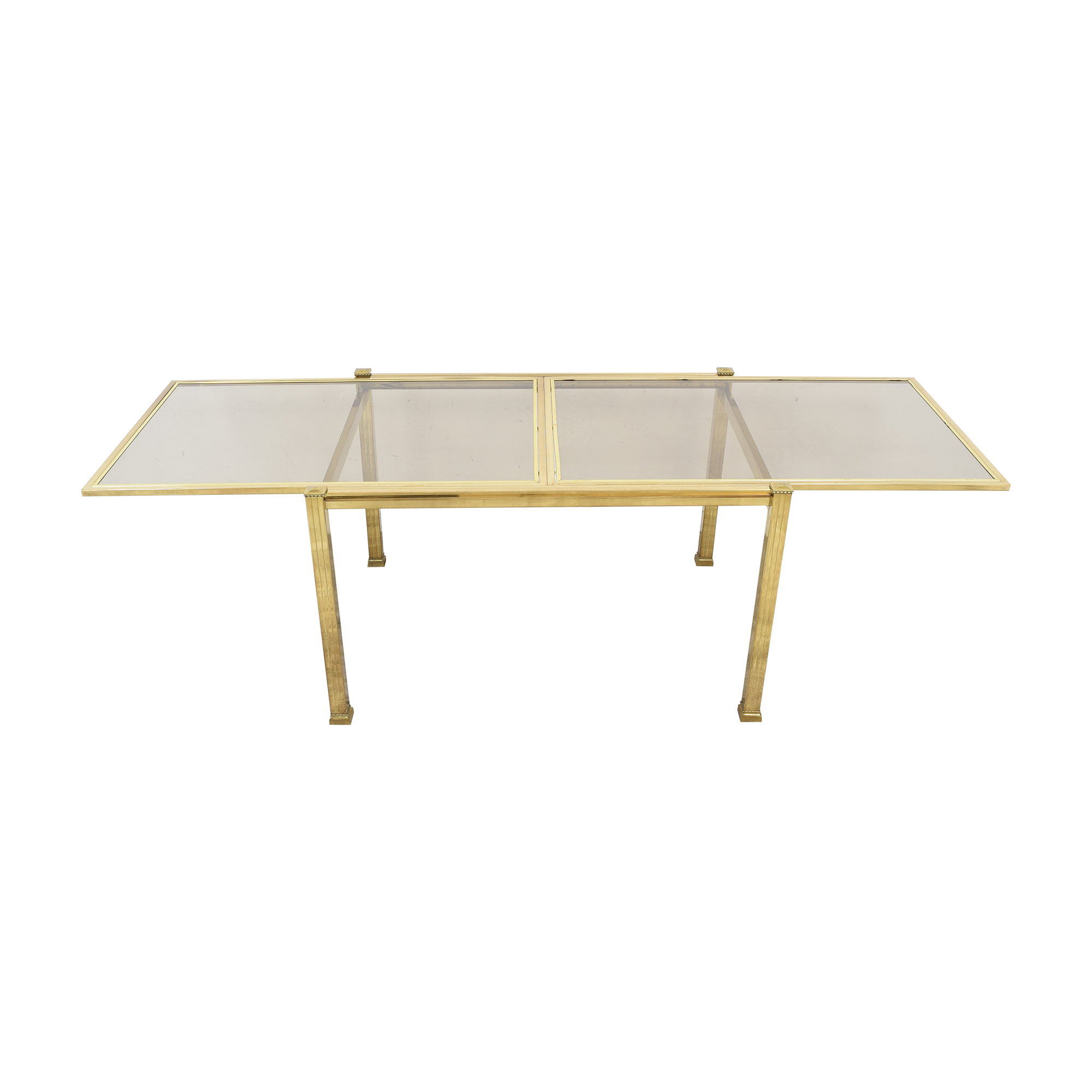 shop Bloomingdale's Glass Top Extendable Dining Table Bloomingdale's Dinner Tables