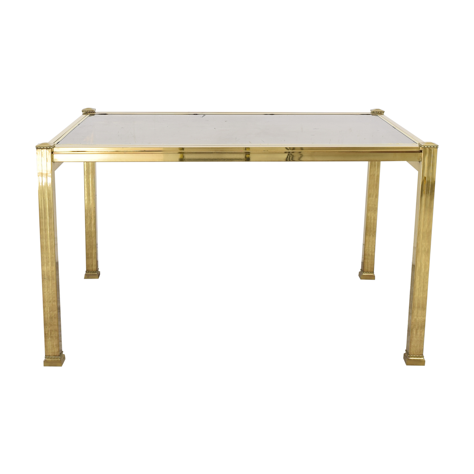 Bloomingdale's Glass Top Extendable Dining Table Bloomingdale's