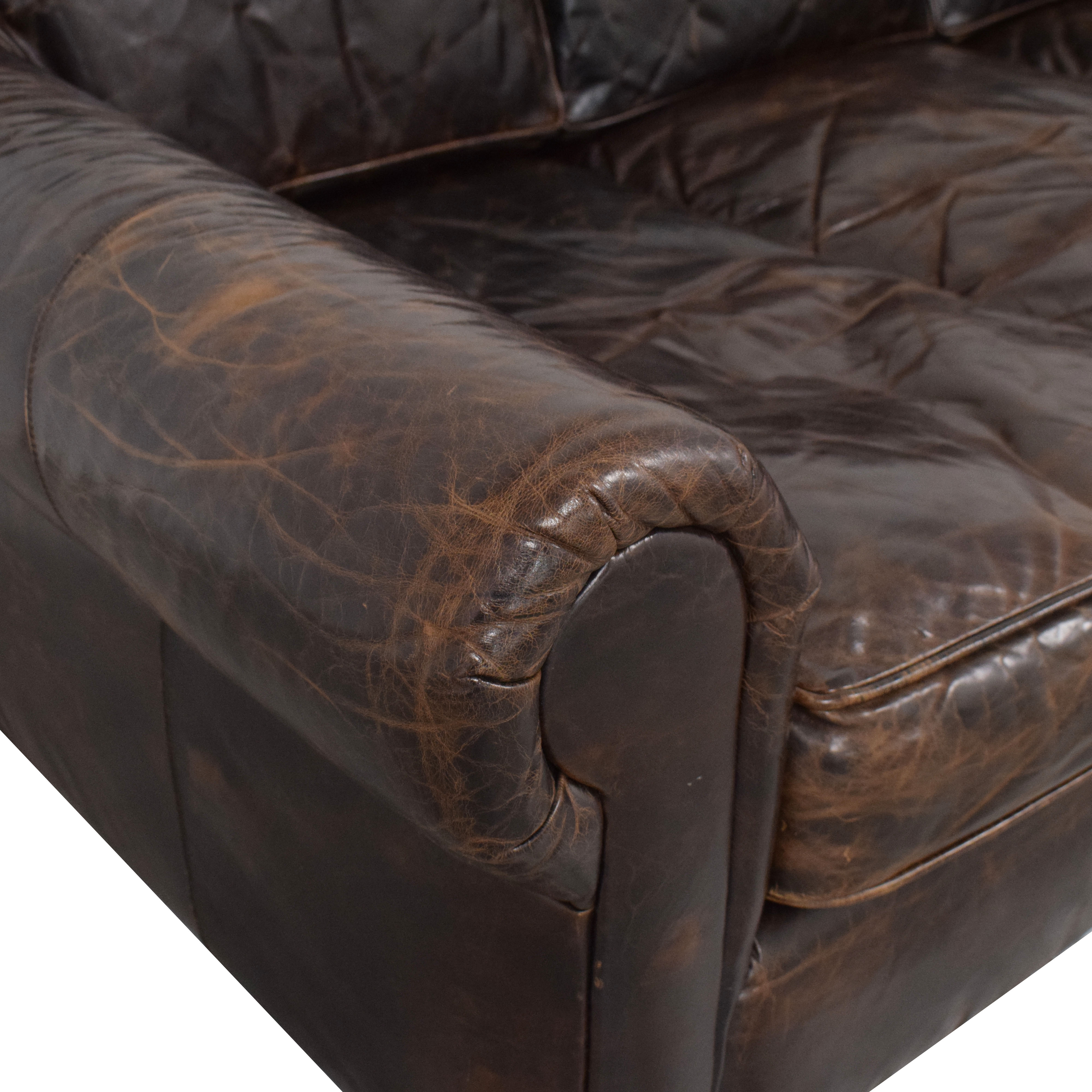 buy Restoration Hardware Original Lancaster Leather Sofa Restoration Hardware