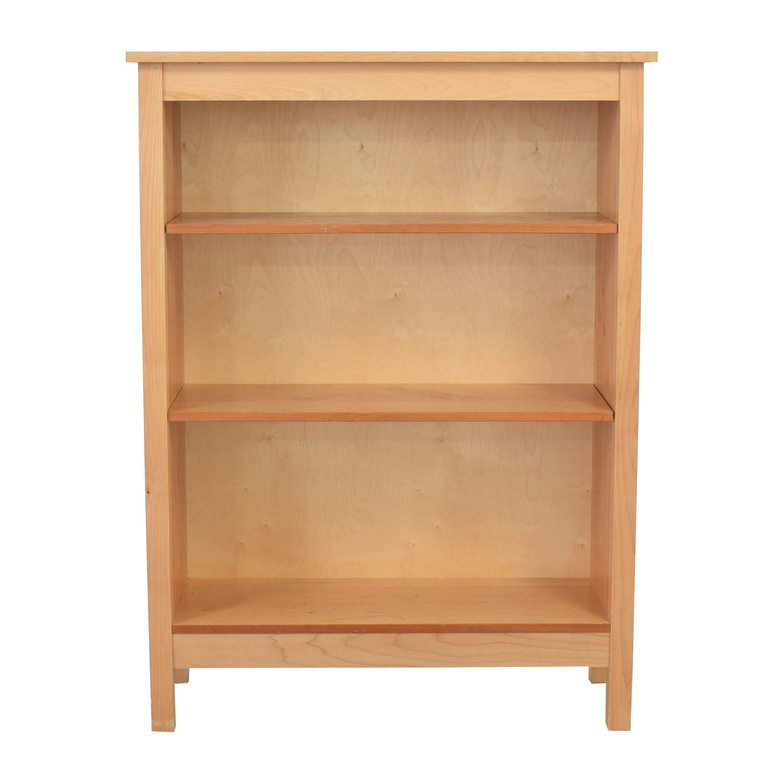 Land of Nod Three Shelf Bookcase light brown