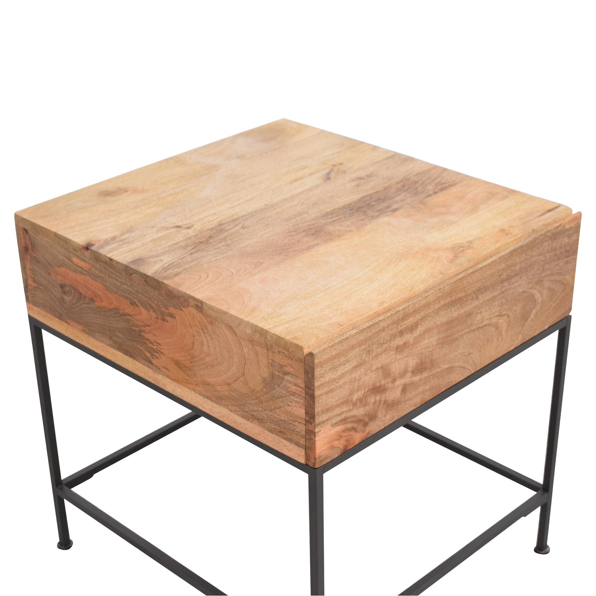 West Elm West Elm Industrial Storage Side Table used