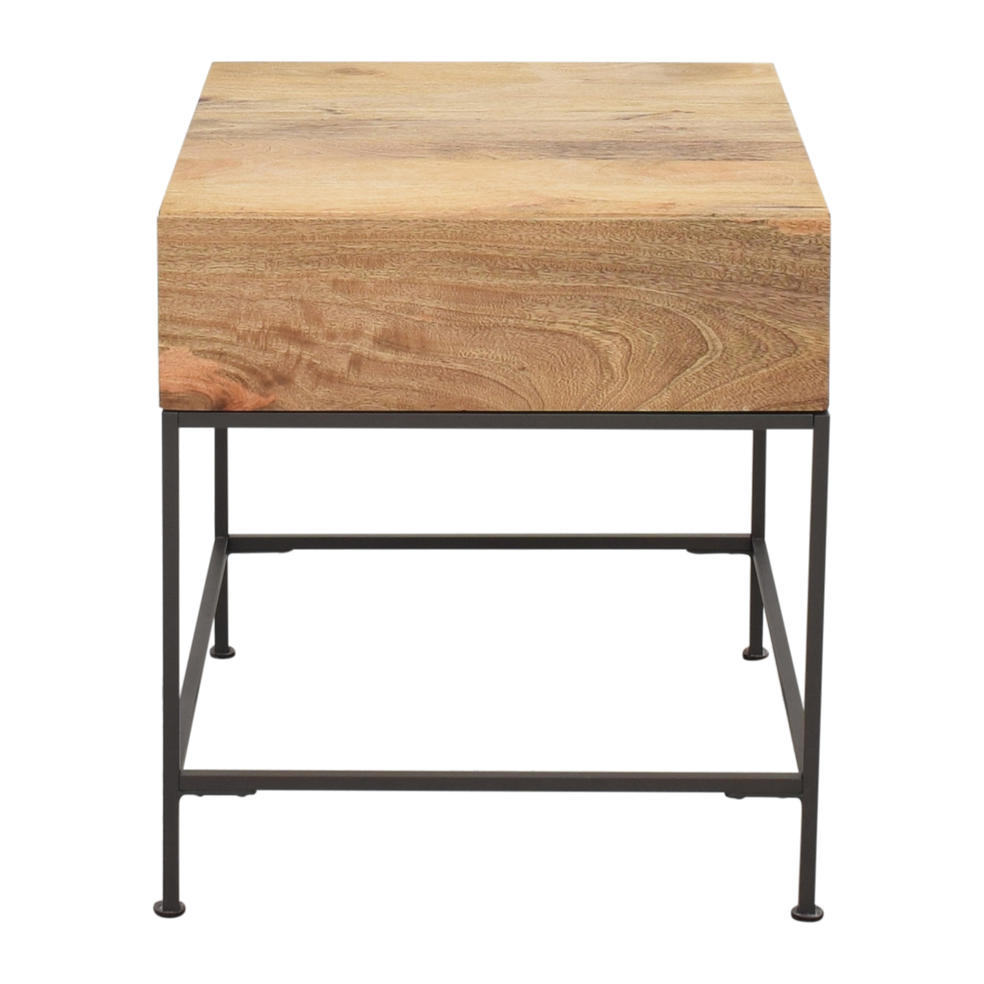 West Elm Industrial Storage Side Table sale