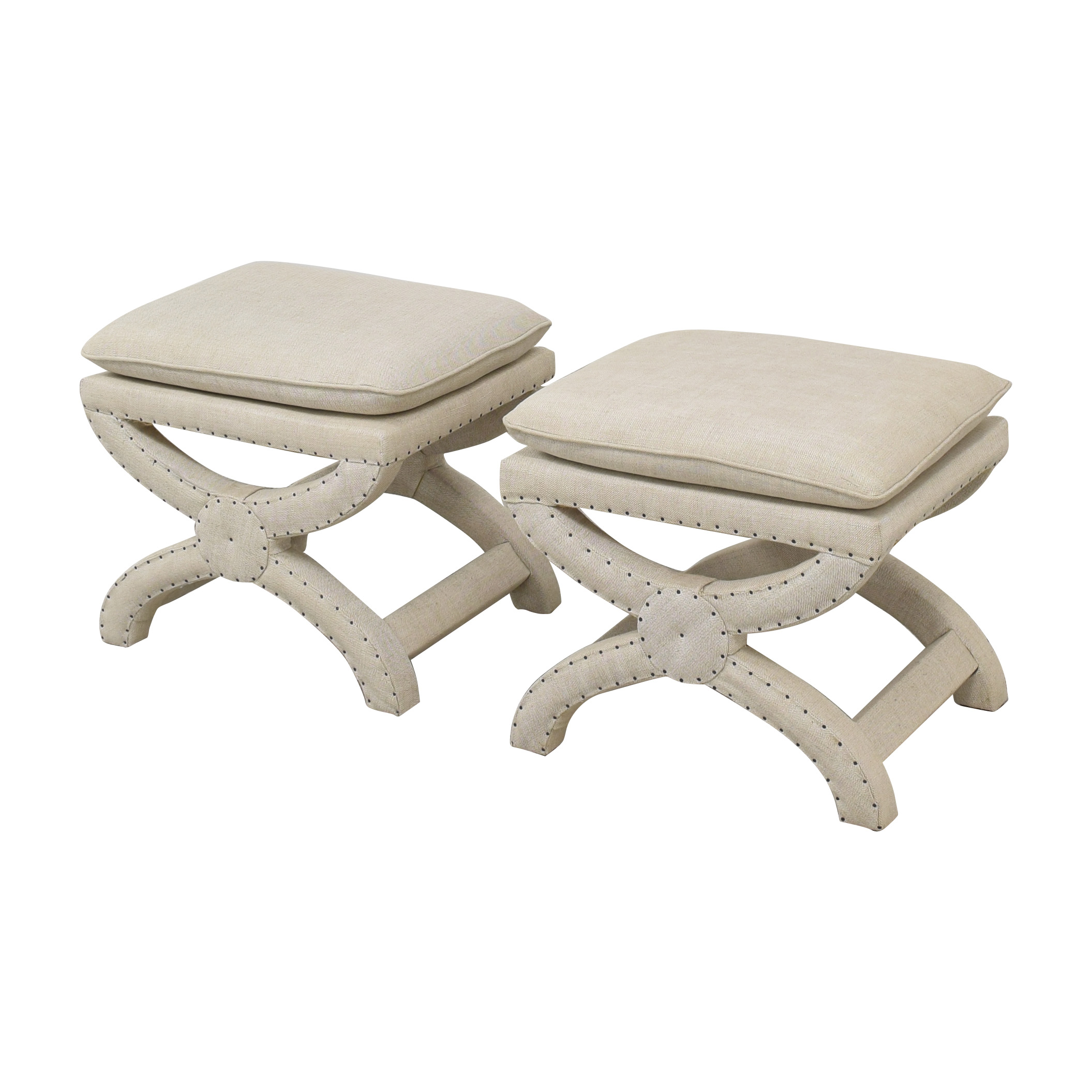 buy Restoration Hardware Toscane Nailhead Stools Restoration Hardware Stools