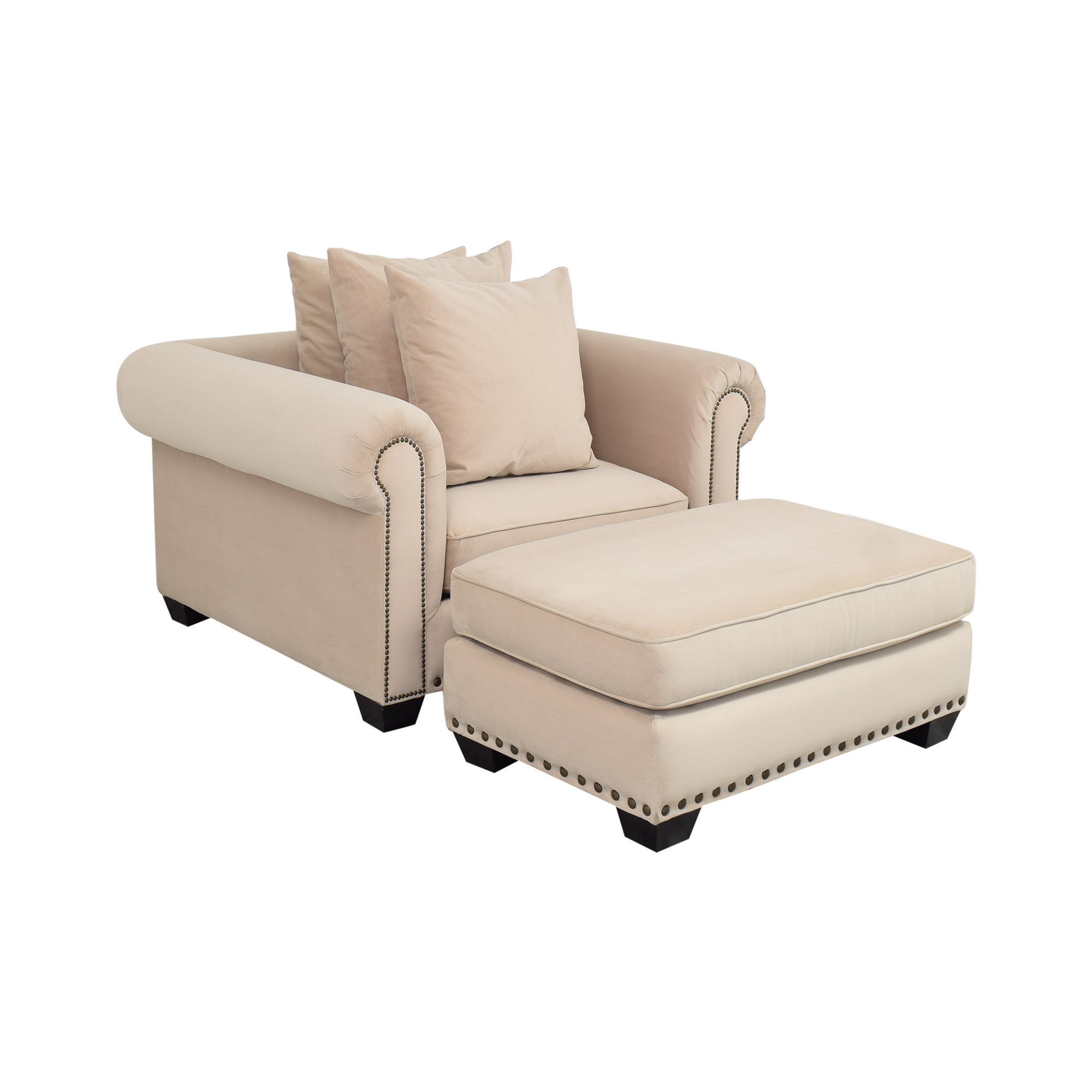 Z Gallerie Z Gallerie Chair and Ottoman on sale