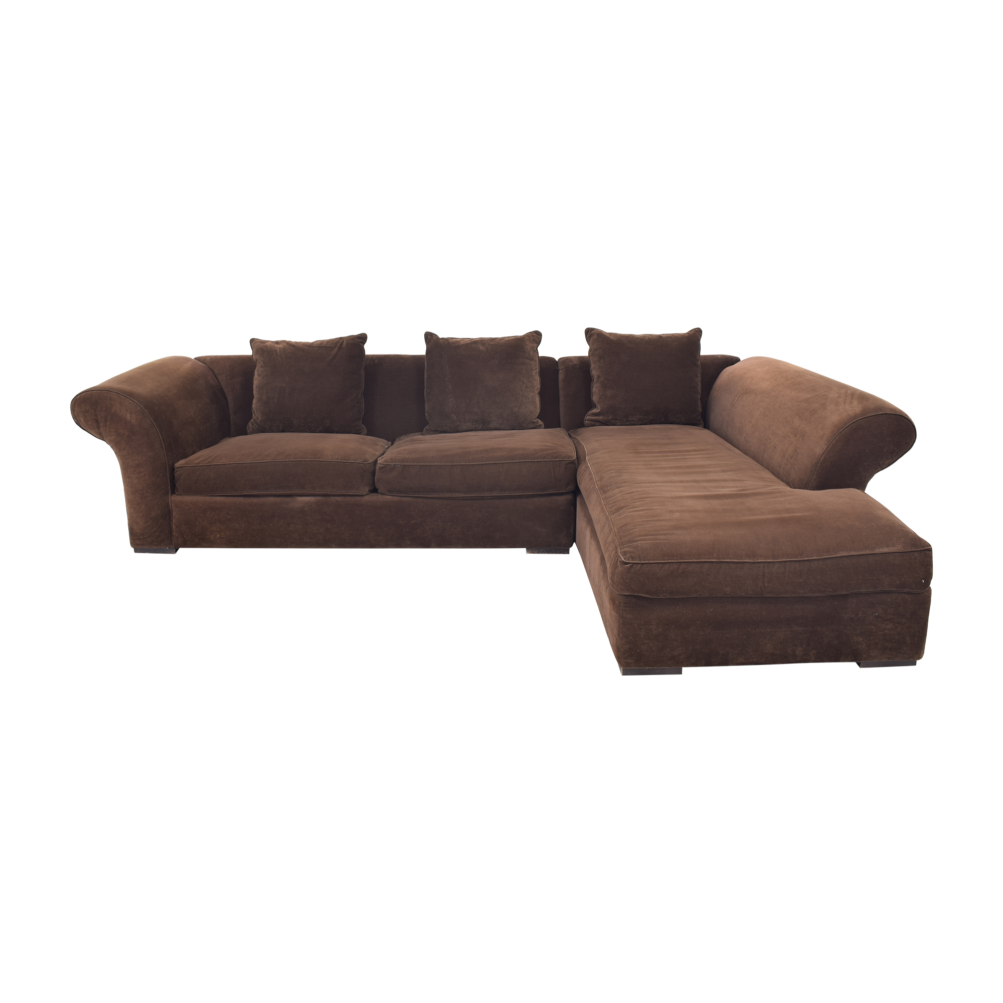 Rowe Furniture Sectional Sofa with Chaise / Sofas