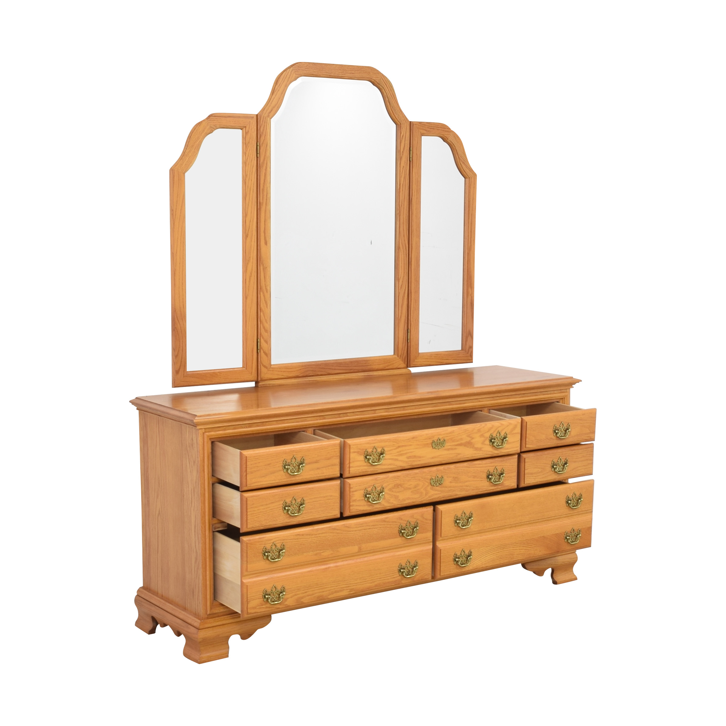 buy Masterfield Furniture Eight Drawer Dresser with Mirror Masterfield Furniture