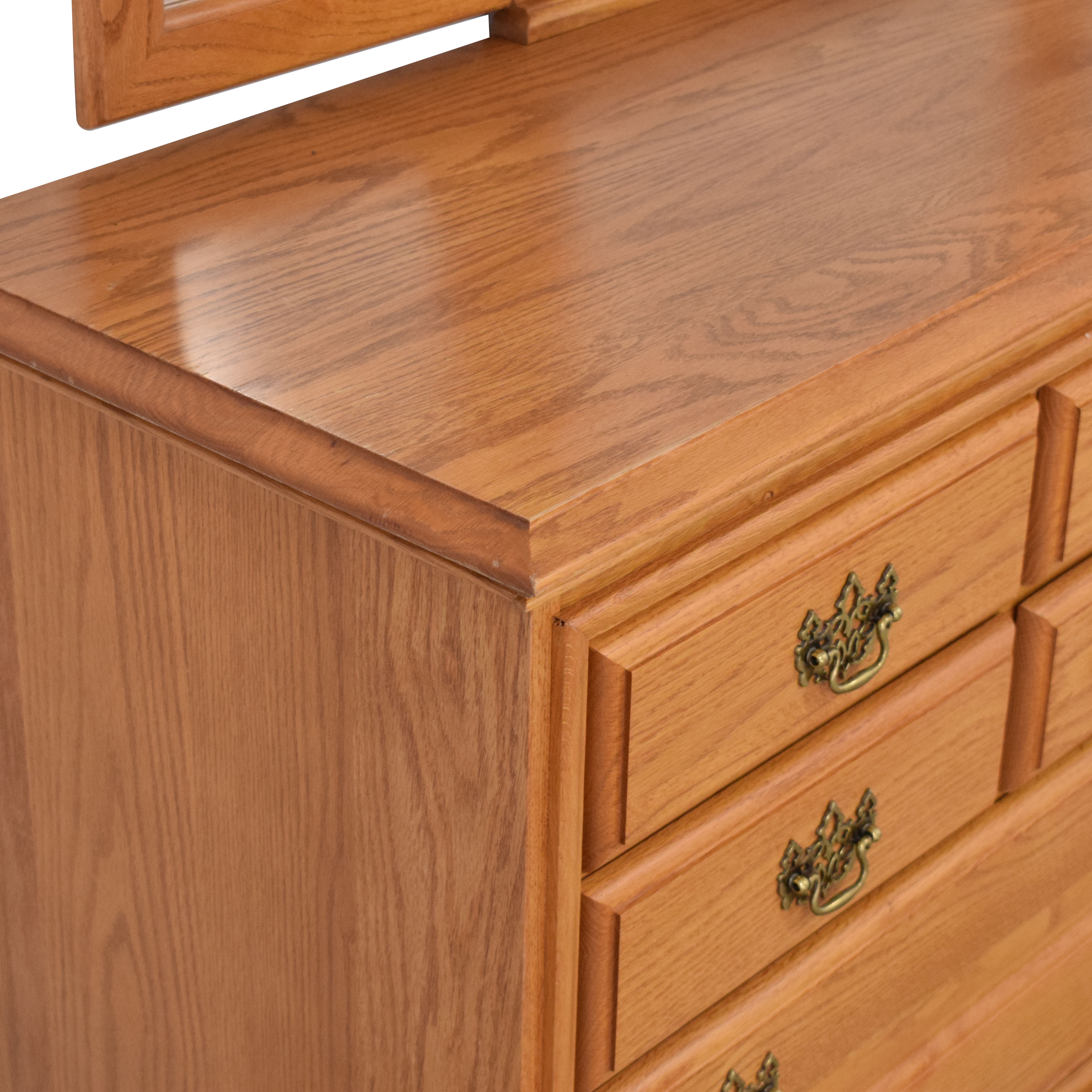 Masterfield Furniture Masterfield Furniture Eight Drawer Dresser with Mirror for sale