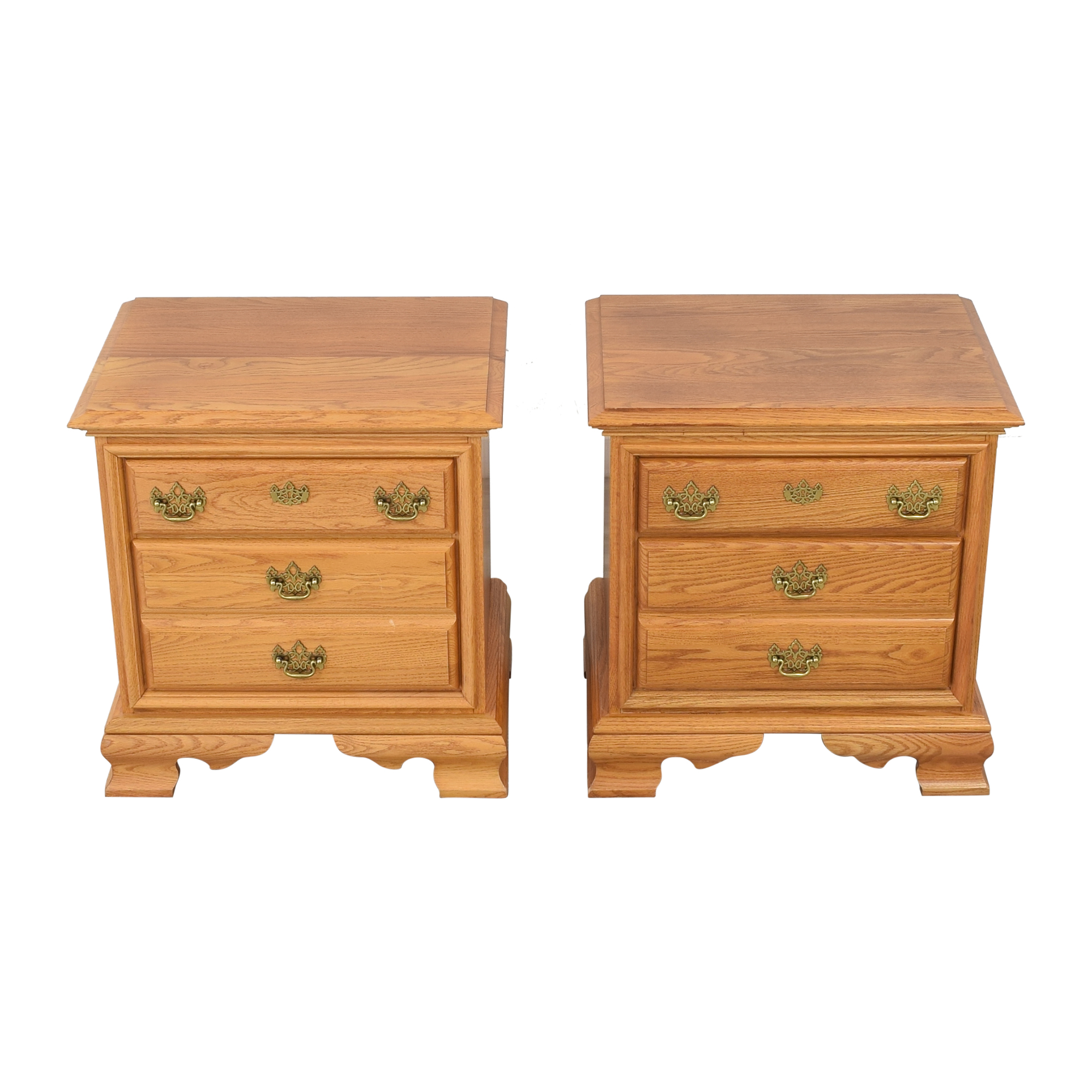 Masterfield Furniture Masterfield Furniture Two Drawer End Tables ct