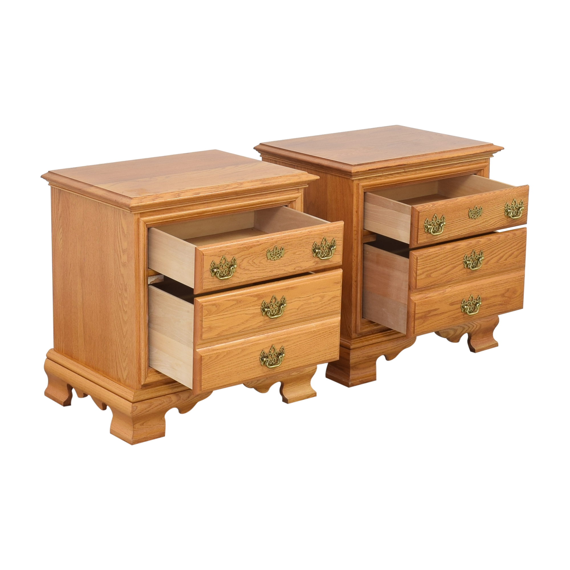 Masterfield Furniture Masterfield Furniture Two Drawer End Tables dimensions