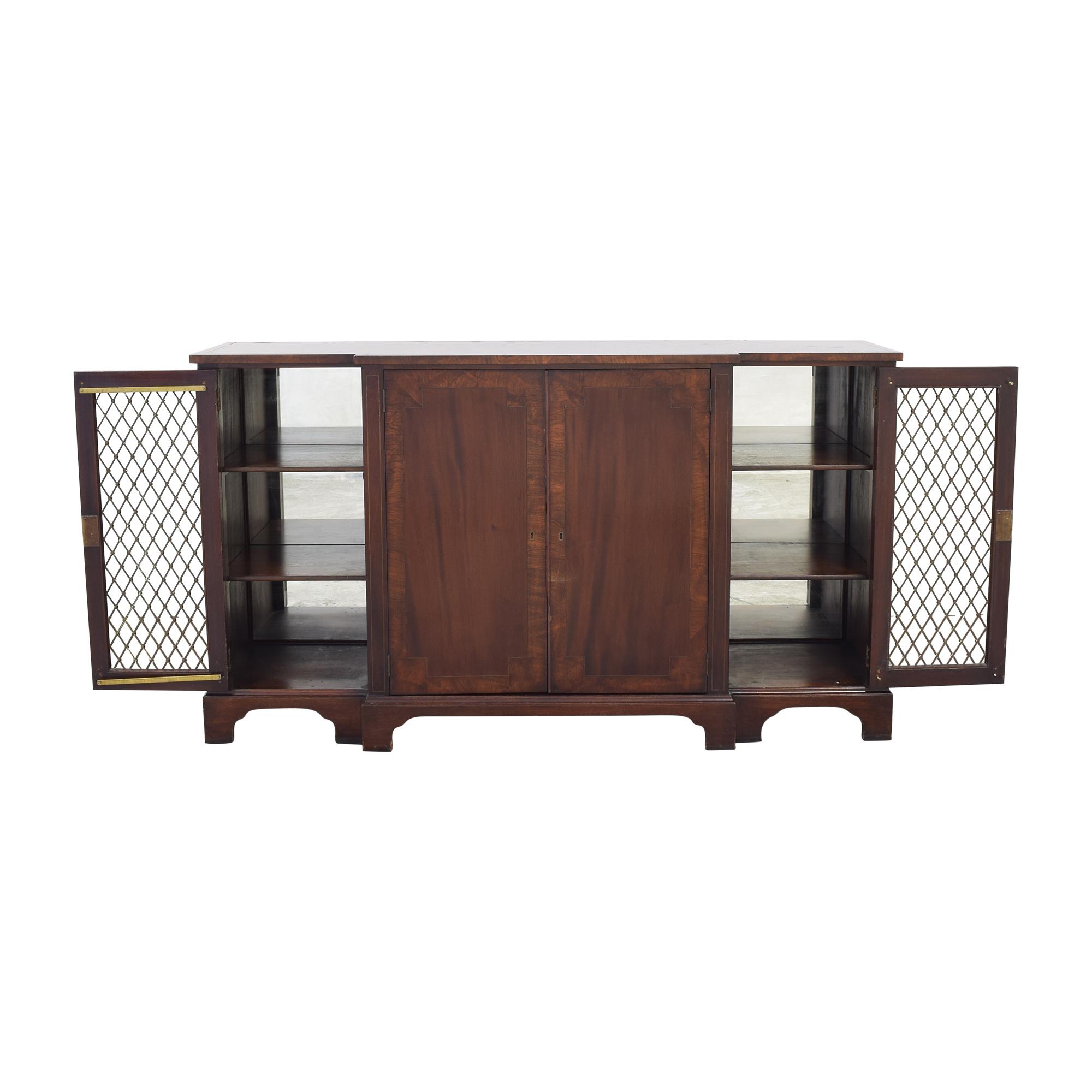 Vintage Sideboard with Lock and Key dark brown