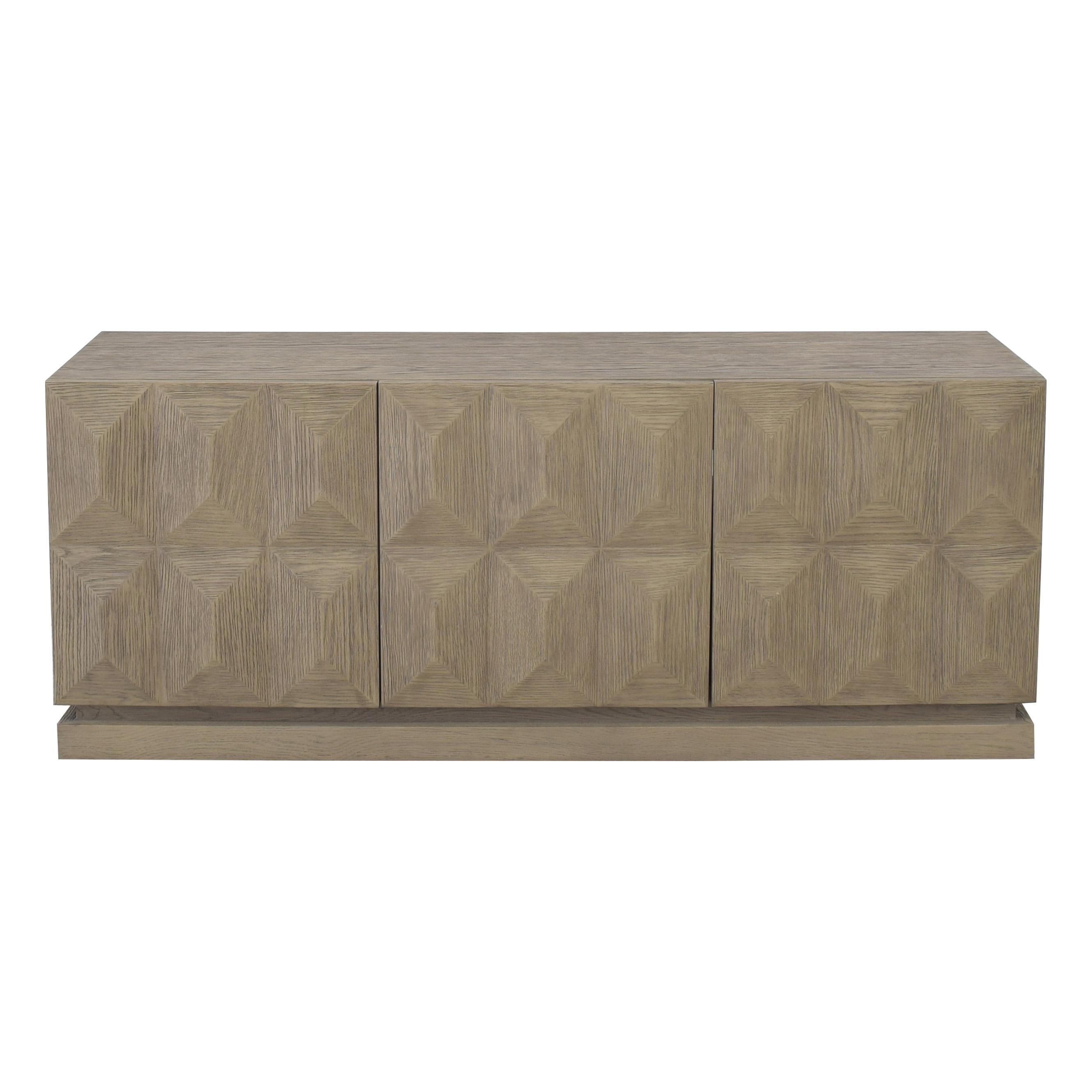 Restoration Hardware Geometric Triple Door Sideboard / Storage