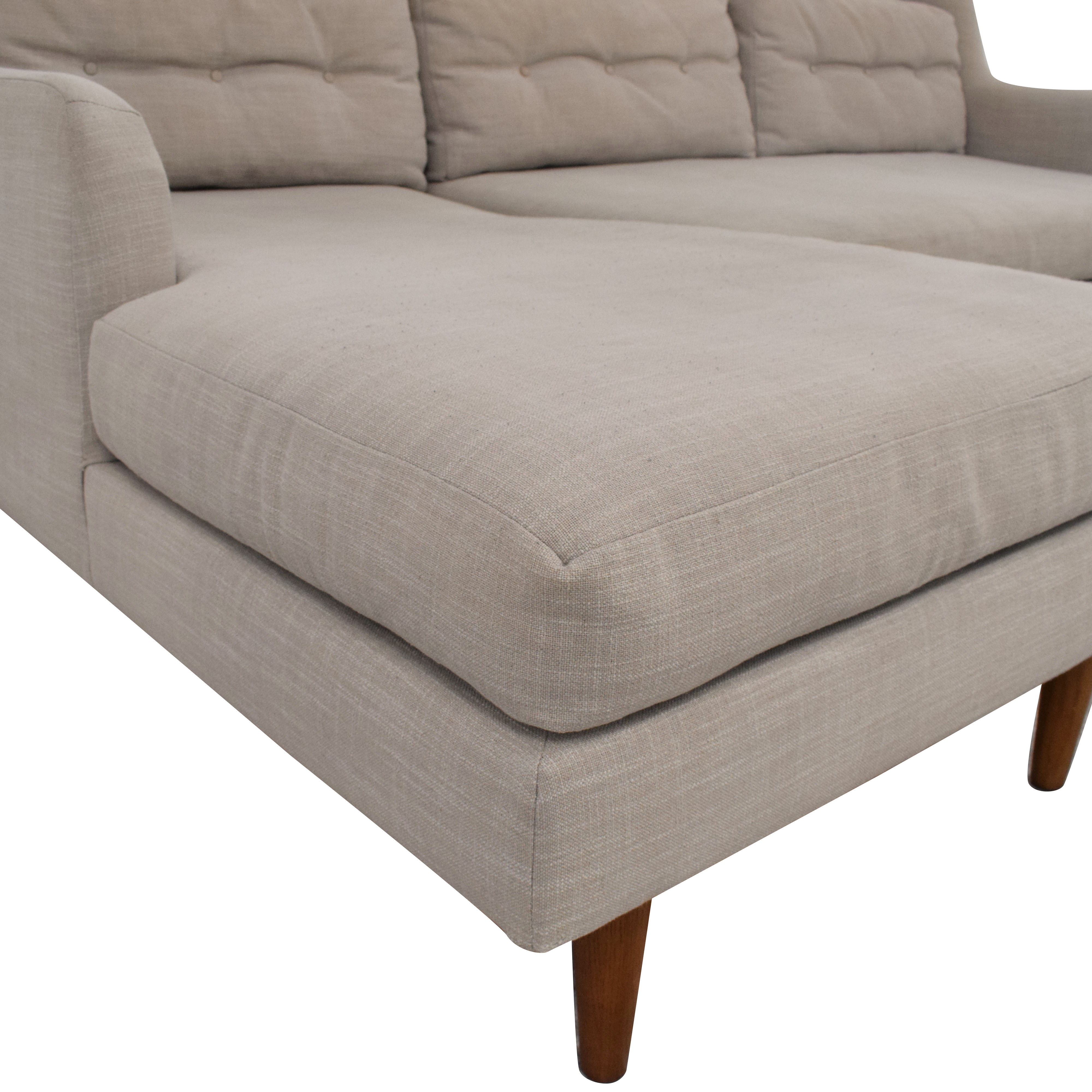 West Elm West Elm Crosby Mid-Century 2-Piece Chaise Sectional second hand