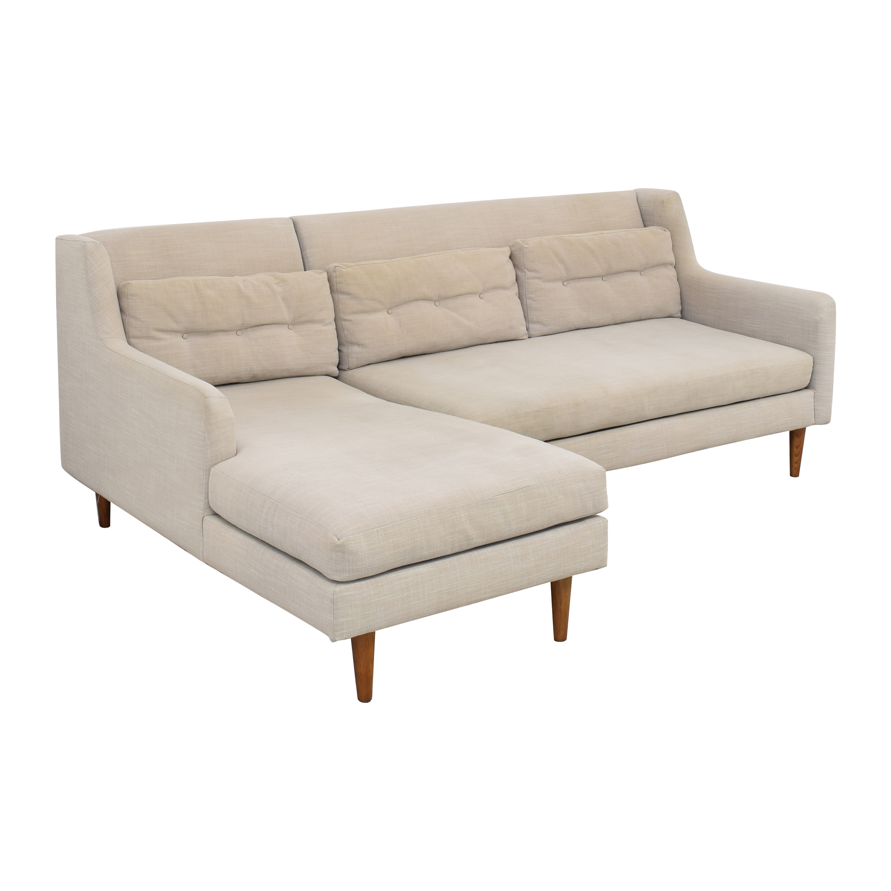 West Elm West Elm Crosby Mid-Century 2-Piece Chaise Sectional Sofas