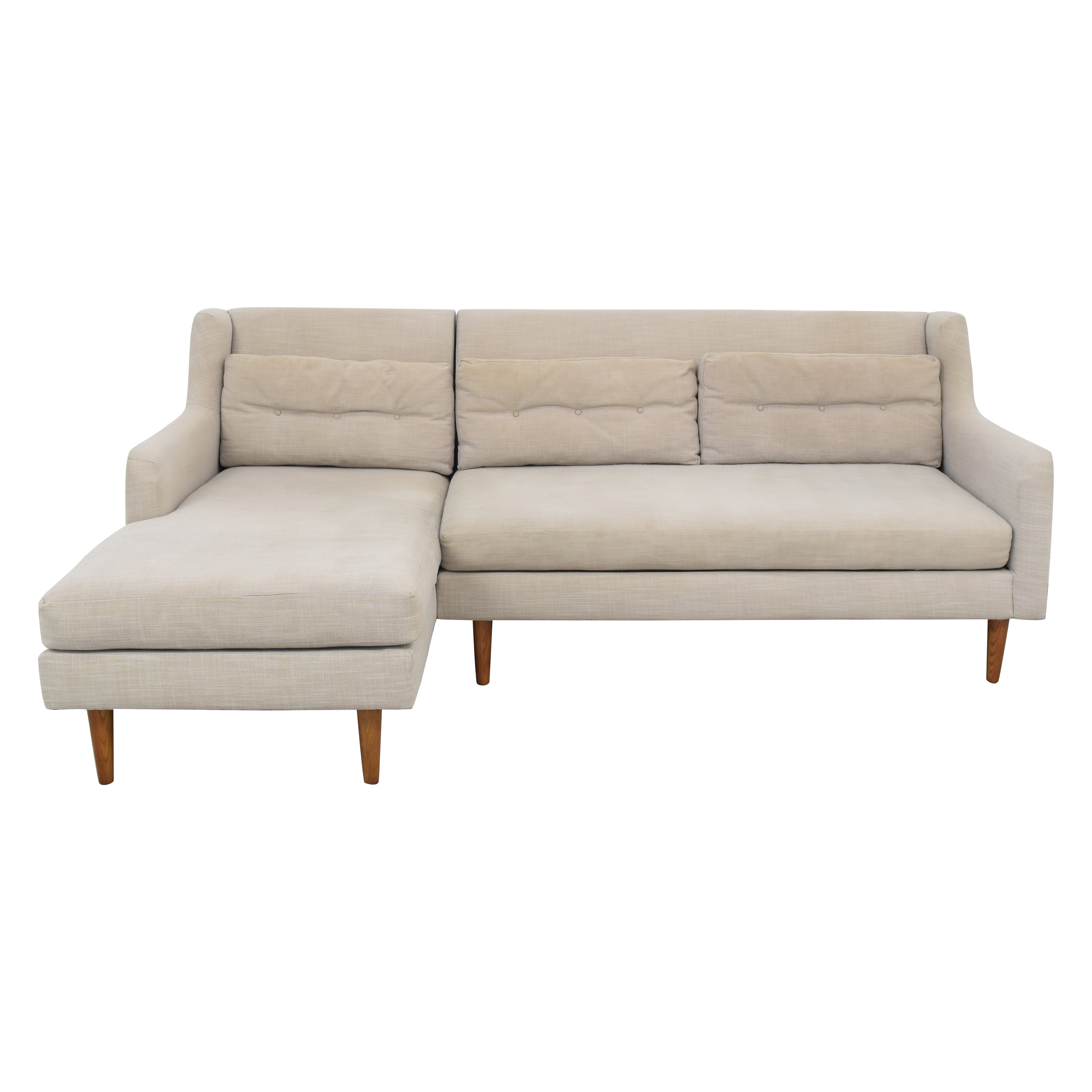 West Elm West Elm Crosby Mid-Century 2-Piece Chaise Sectional nj