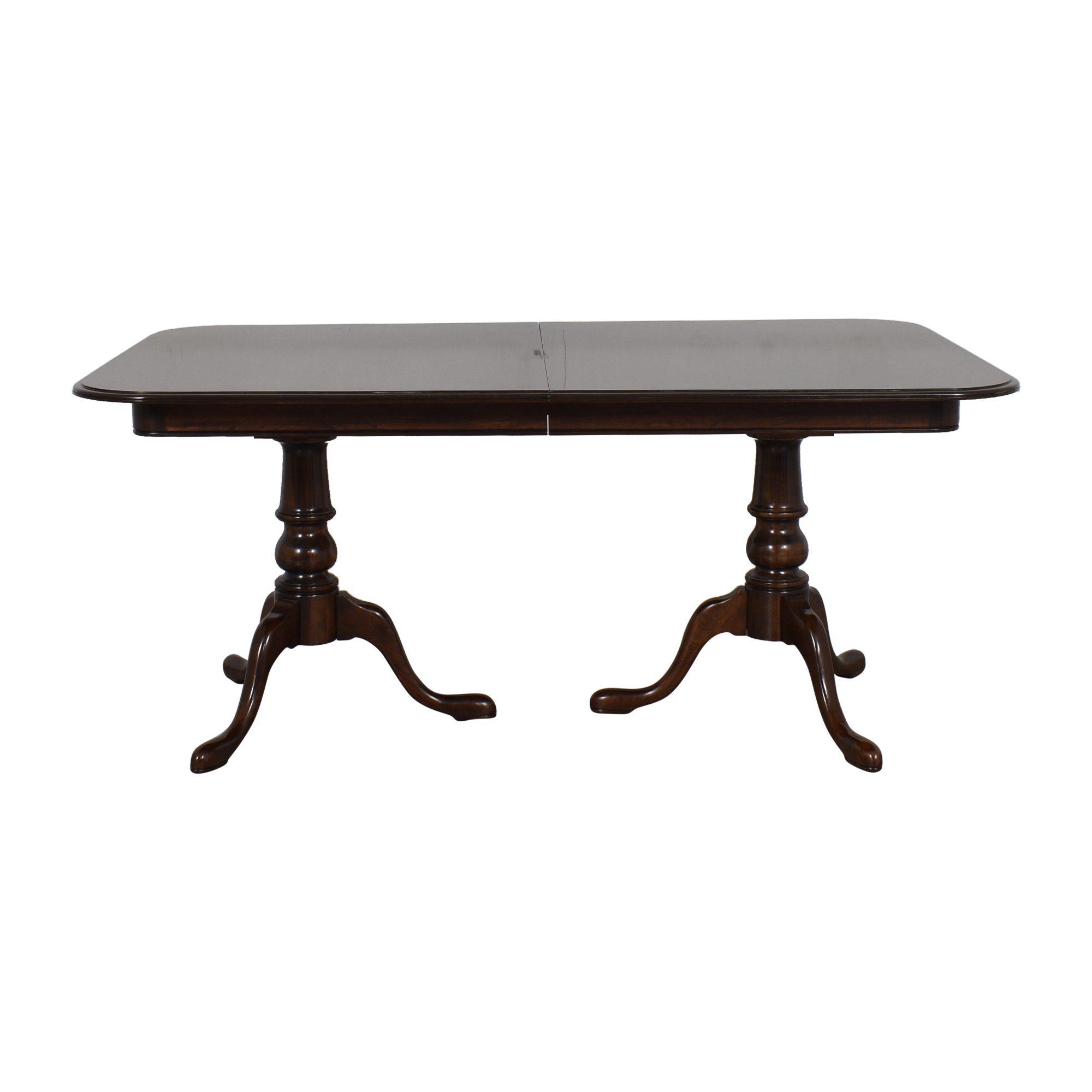 buy Ethan Allen Double Pedestal Dining Table Ethan Allen Dinner Tables
