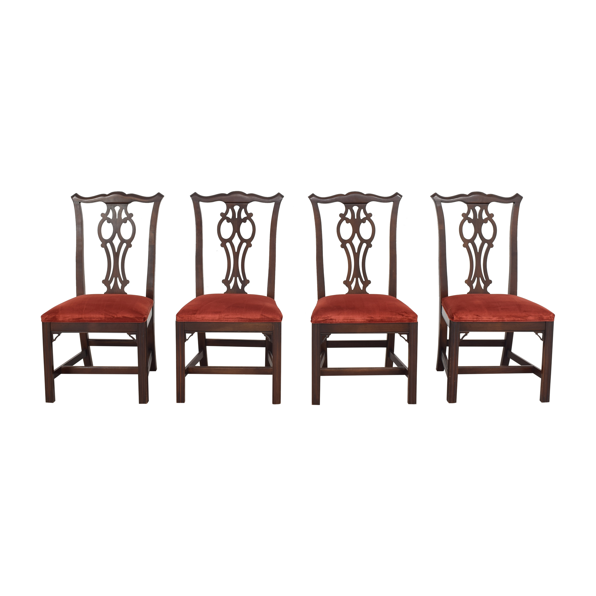 shop Ethan Allen Vintage Upholstered Dining Chairs Ethan Allen
