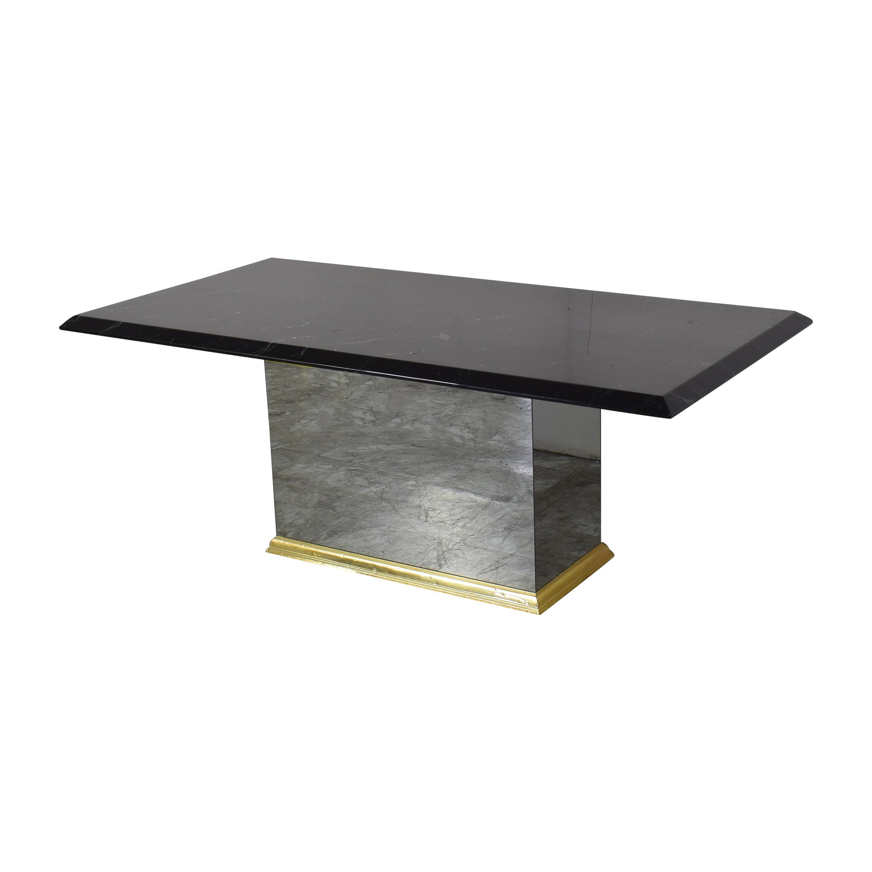 Rectangular Pedestal Base Dining Table coupon