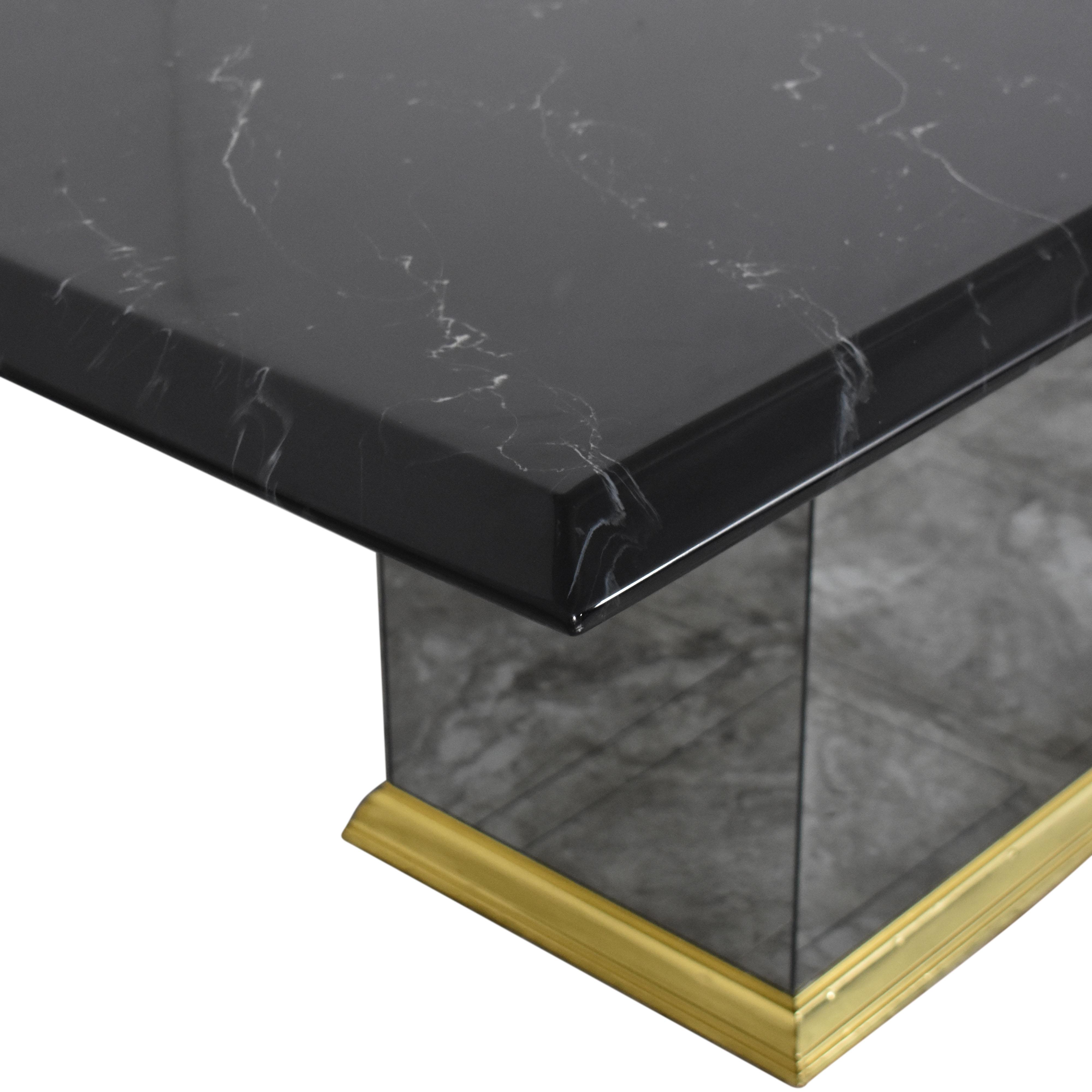 Rectangular Pedestal Base Dining Table ct