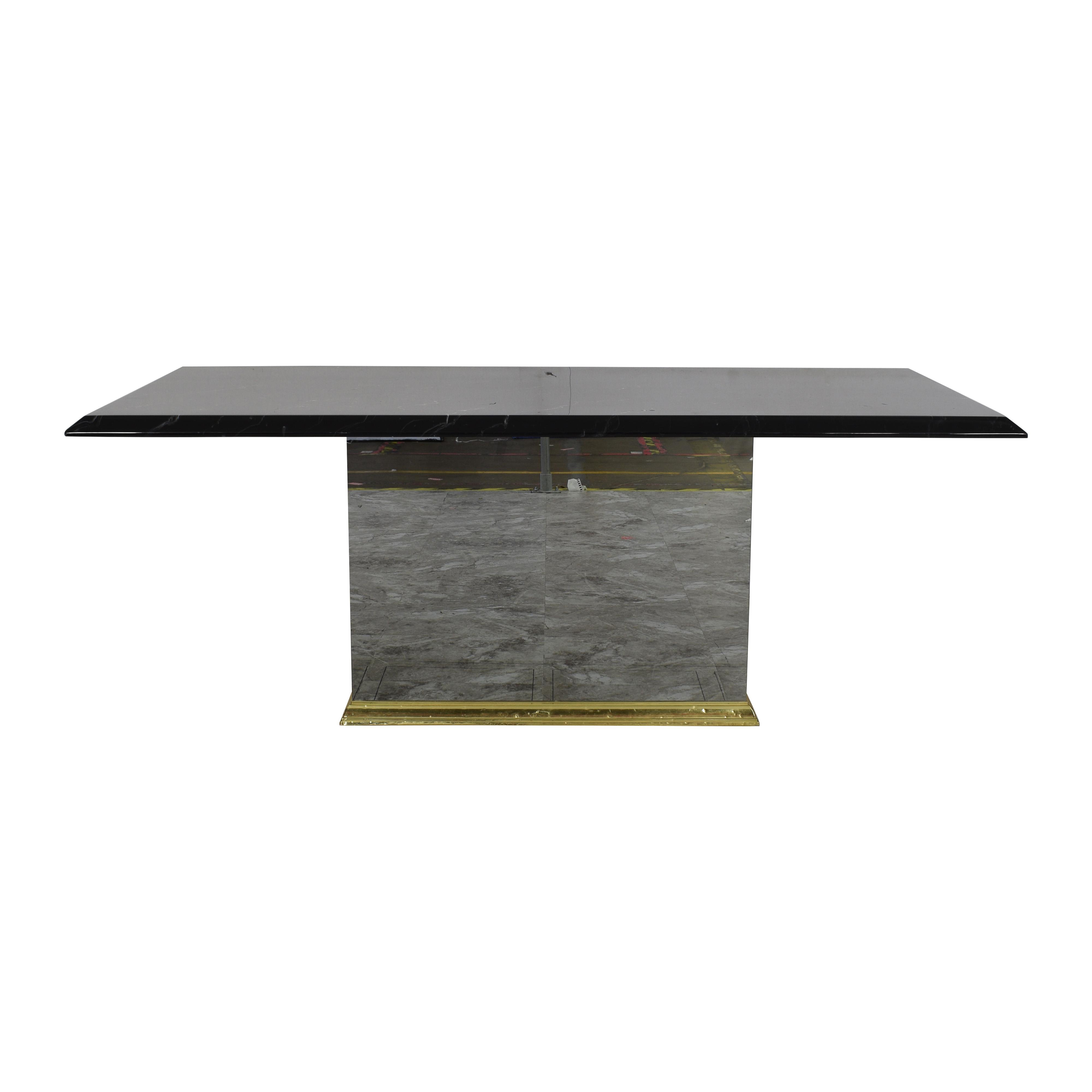 shop Rectangular Pedestal Base Dining Table  Dinner Tables