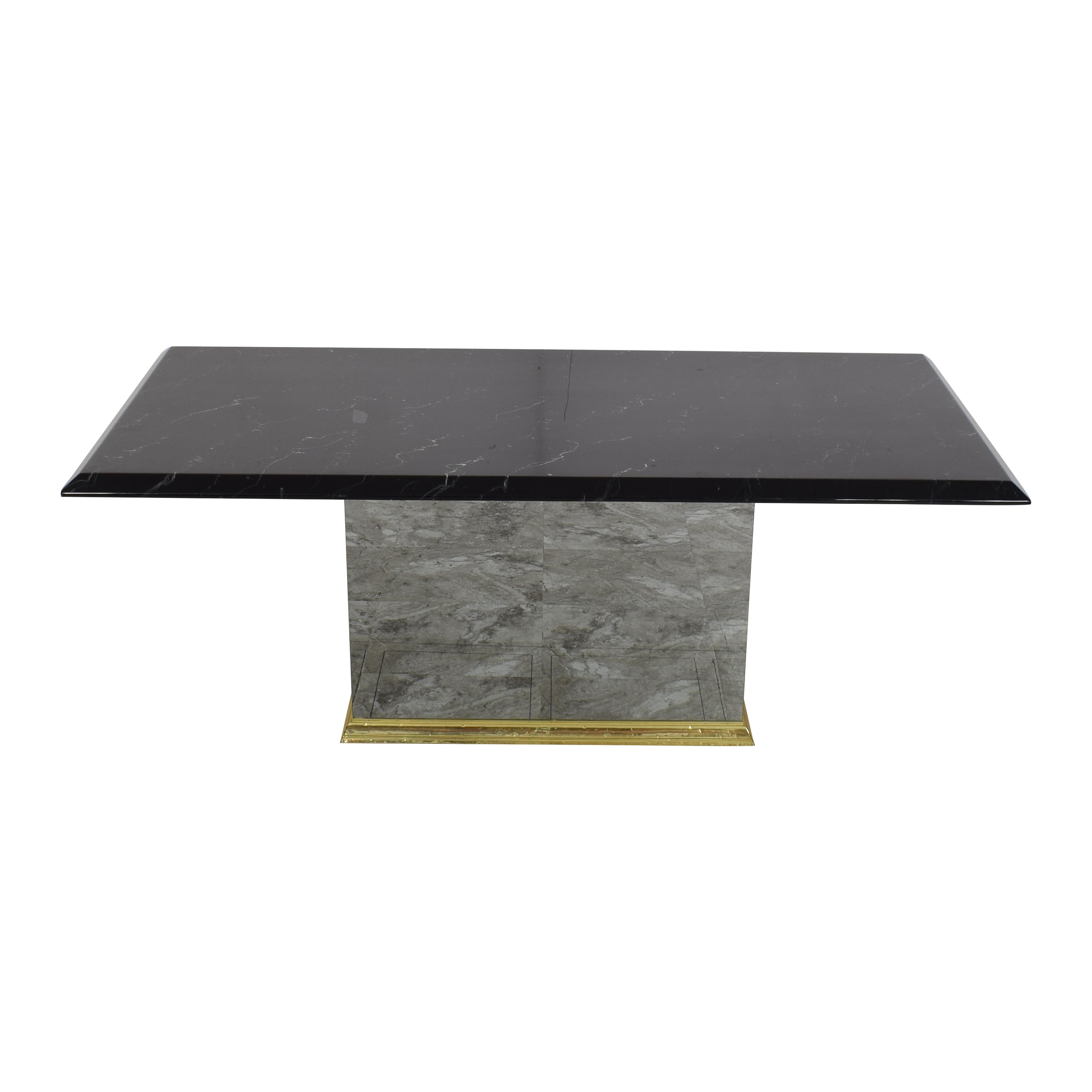 buy Rectangular Pedestal Base Dining Table  Dinner Tables