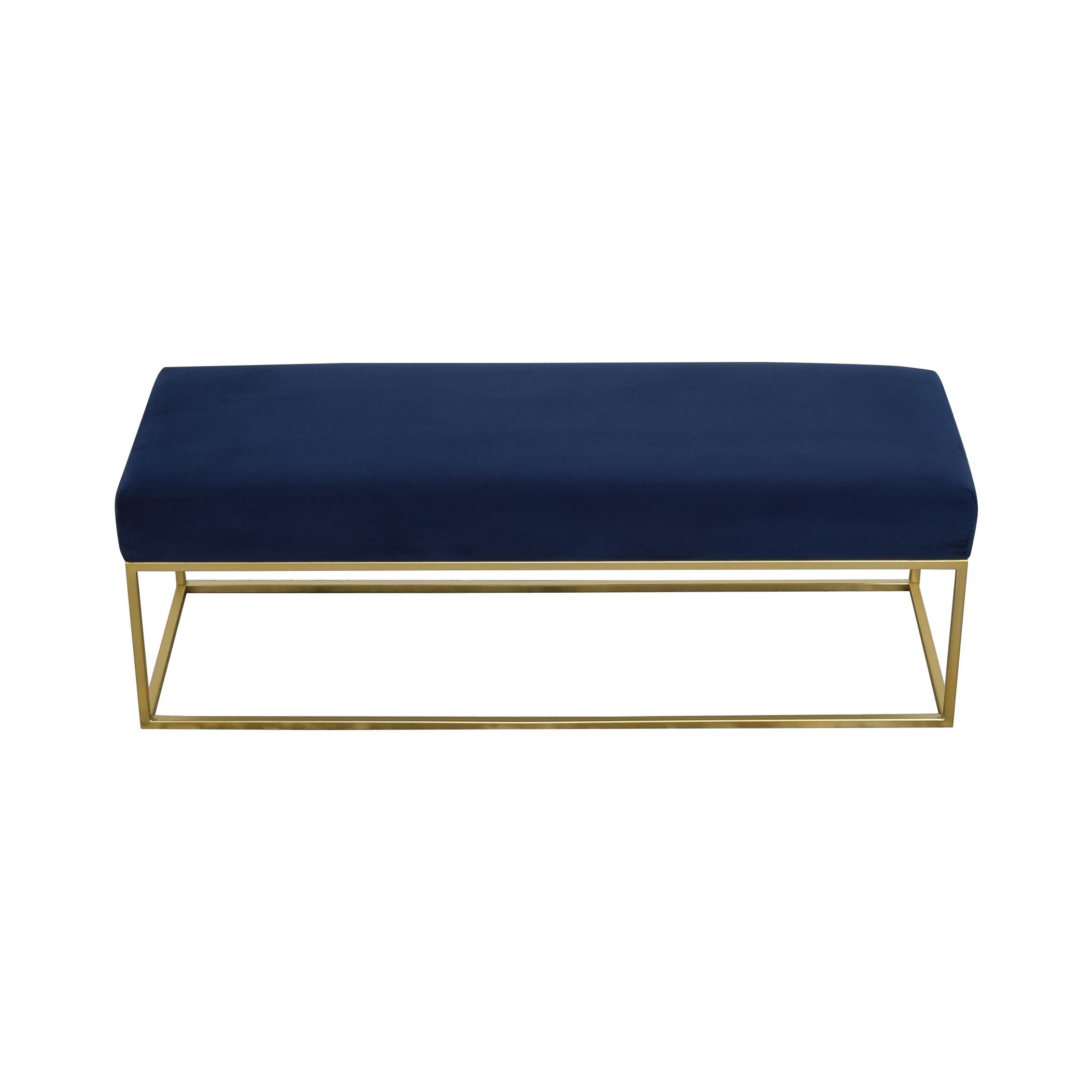 West Elm West Elm Box Frame Upholstered Bench on sale