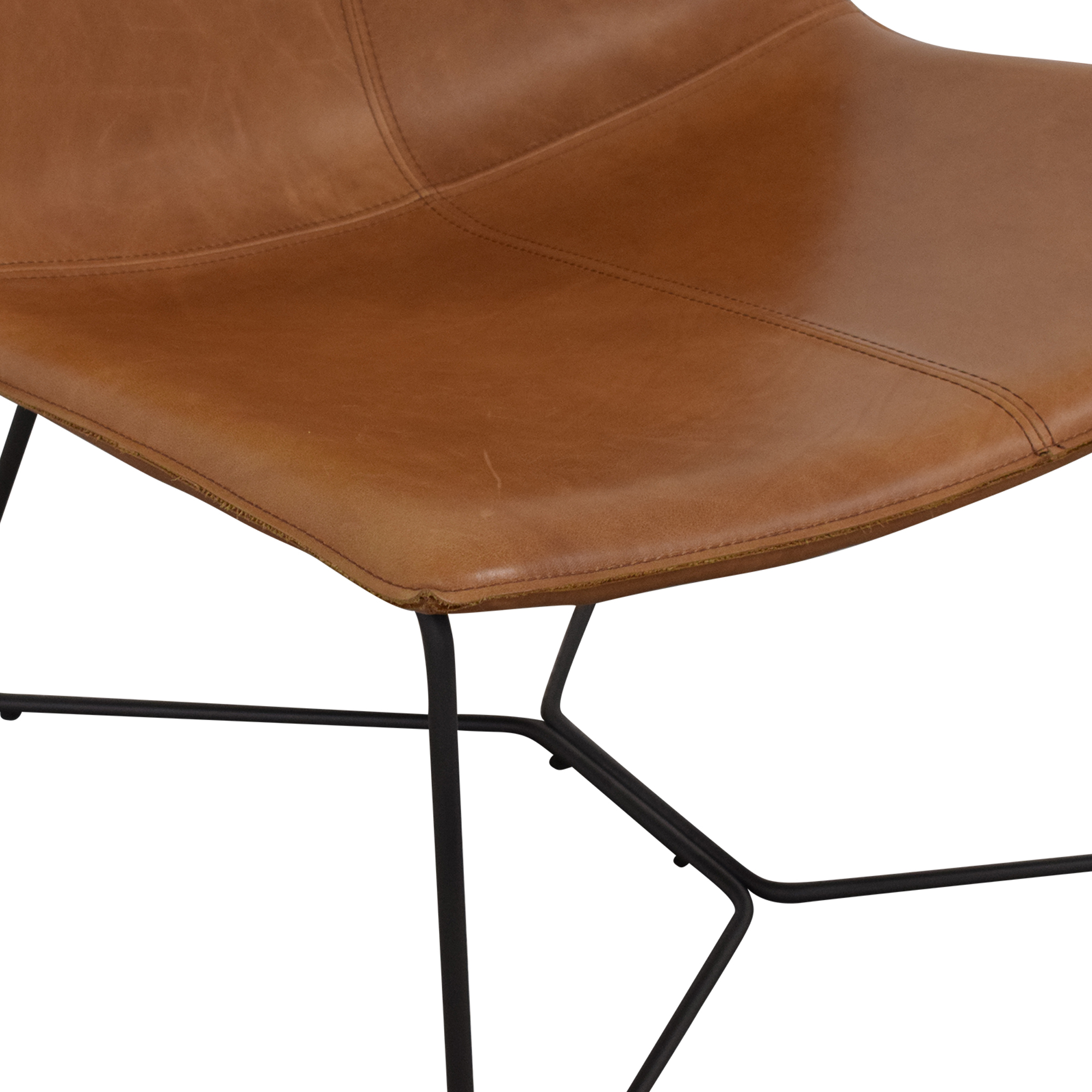 West Elm West Elm Slope Leather Lounge Chair used