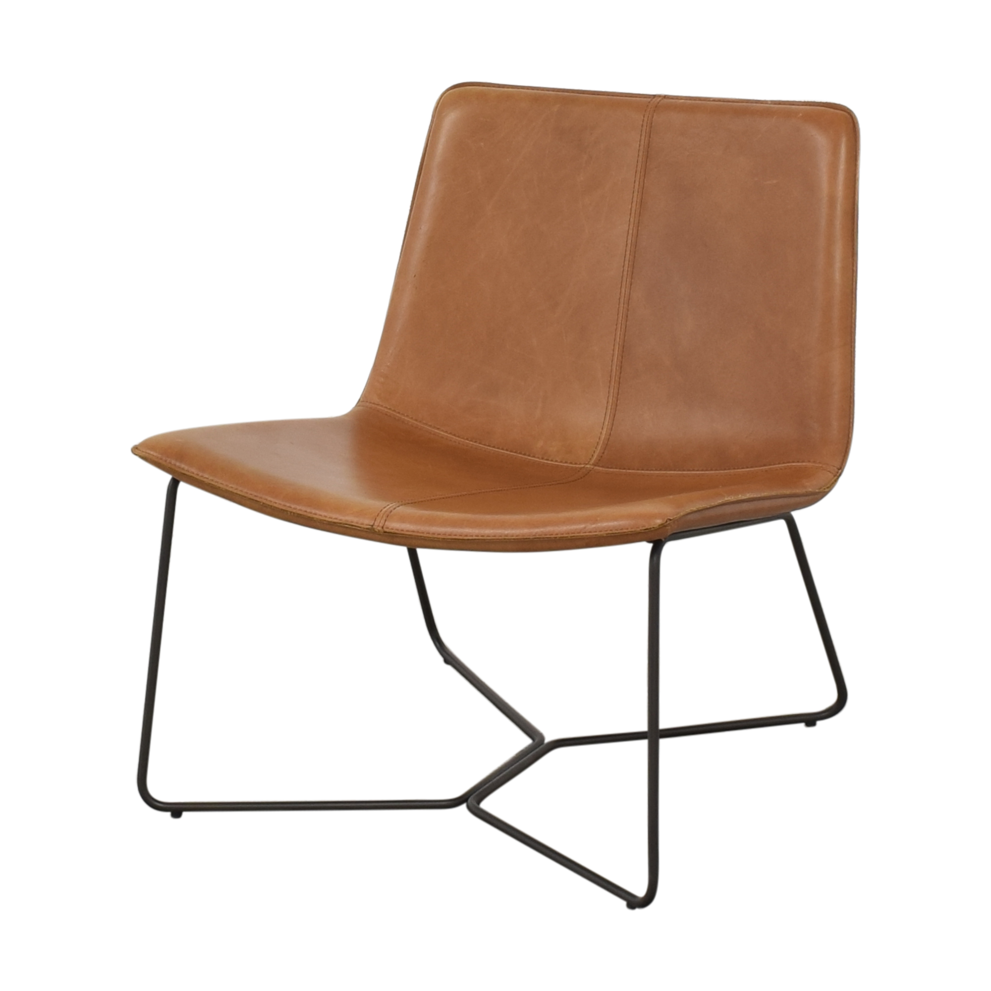 West Elm West Elm Slope Leather Lounge Chair pa